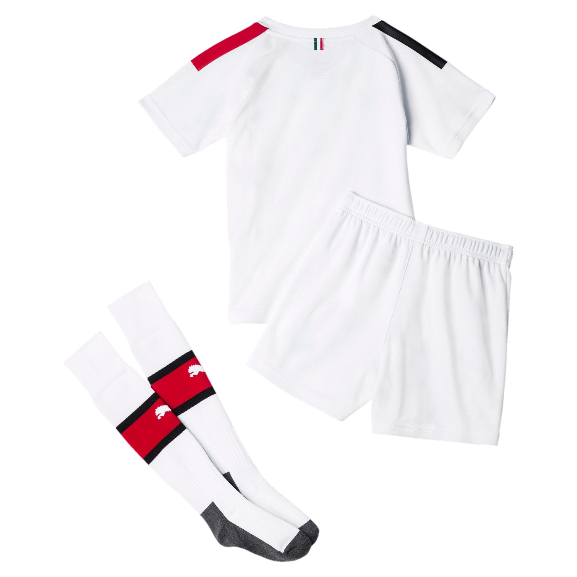 Thumbnail 2 of AC Milan Away Mini Kit, Puma White-Tango Red, medium