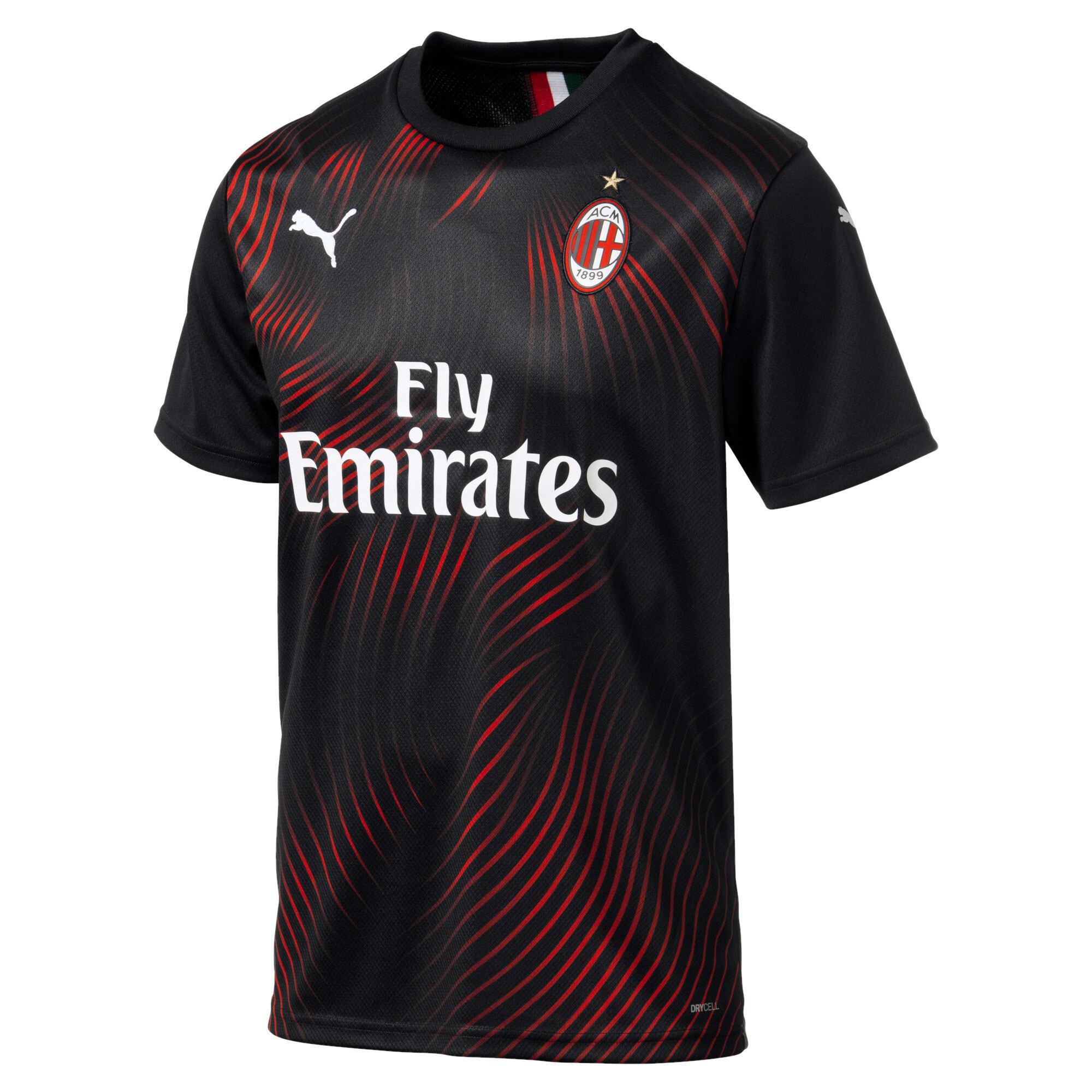 Miniaturka 1 Replika koszulki dla mężczyzn AC Milan Third, Puma Black-Tango Red, średnie