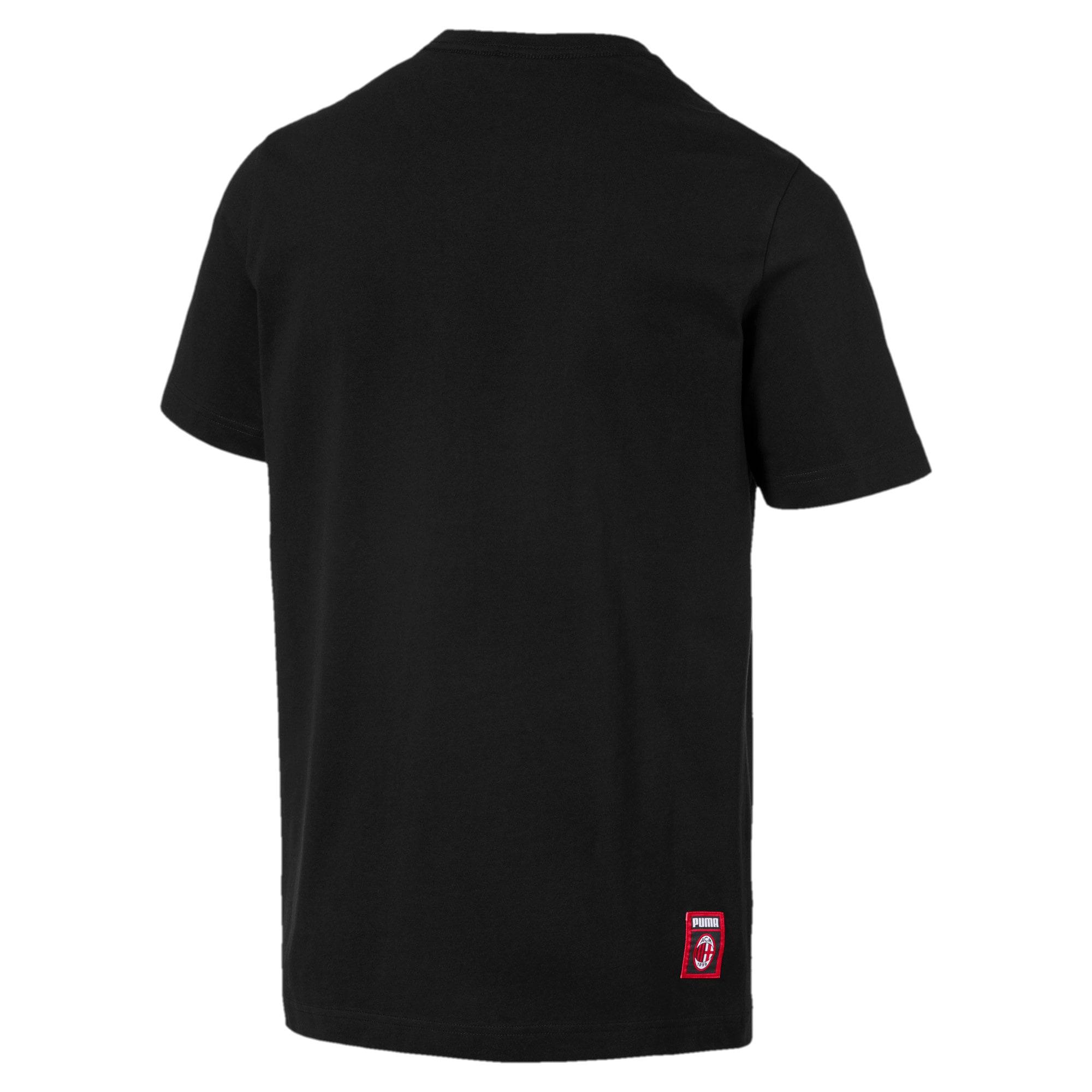 Miniatura 5 de Camiseta AC Milan DNA para hombre, Cotton Black-tango red, mediano