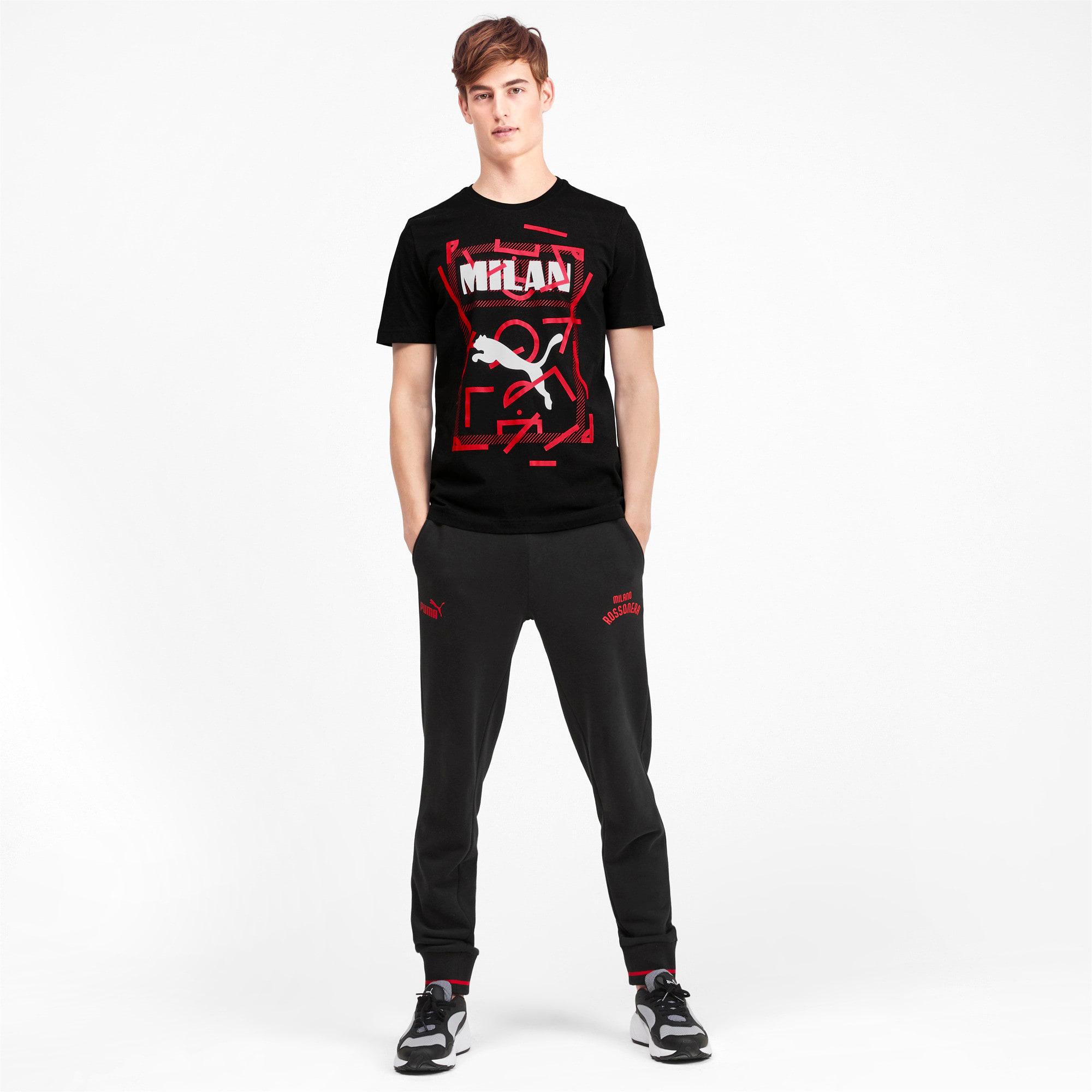Miniatura 3 de Camiseta AC Milan DNA para hombre, Cotton Black-tango red, mediano