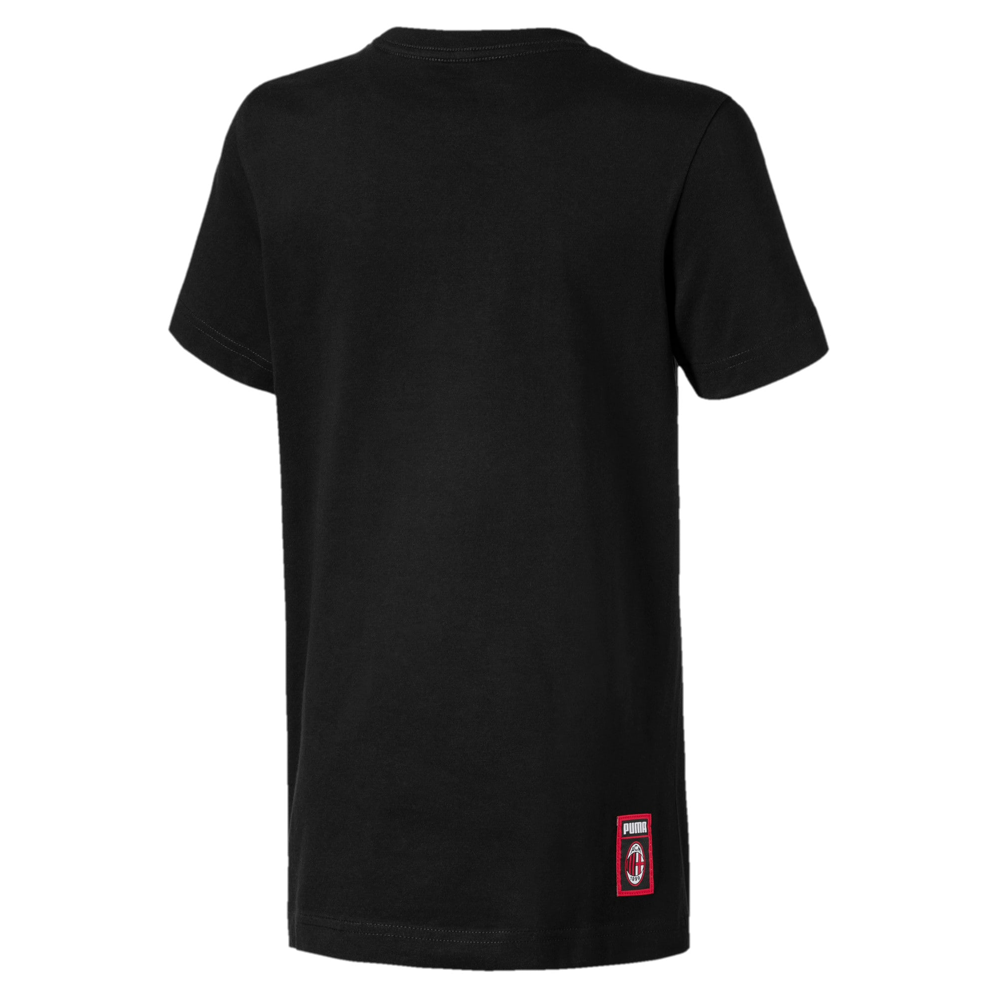 Thumbnail 2 of AC Milan DNA Kinder T-Shirt, Cotton Black-tango red, medium