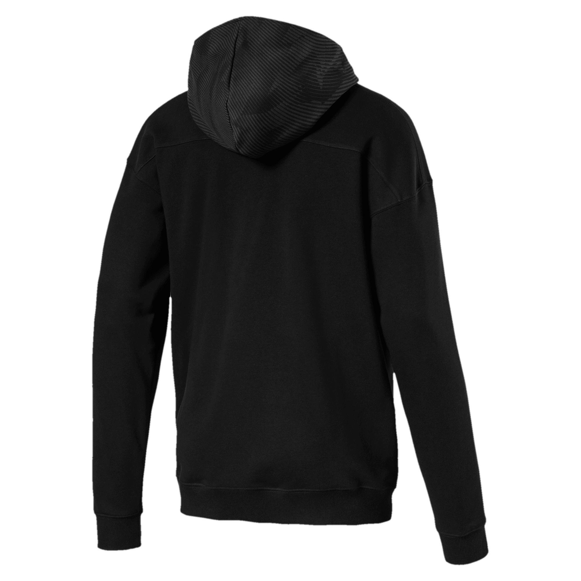 Thumbnail 5 of Borussia Mönchengladbach Casuals Men's Hooded Jacket, Puma Black-Phantom Black, medium