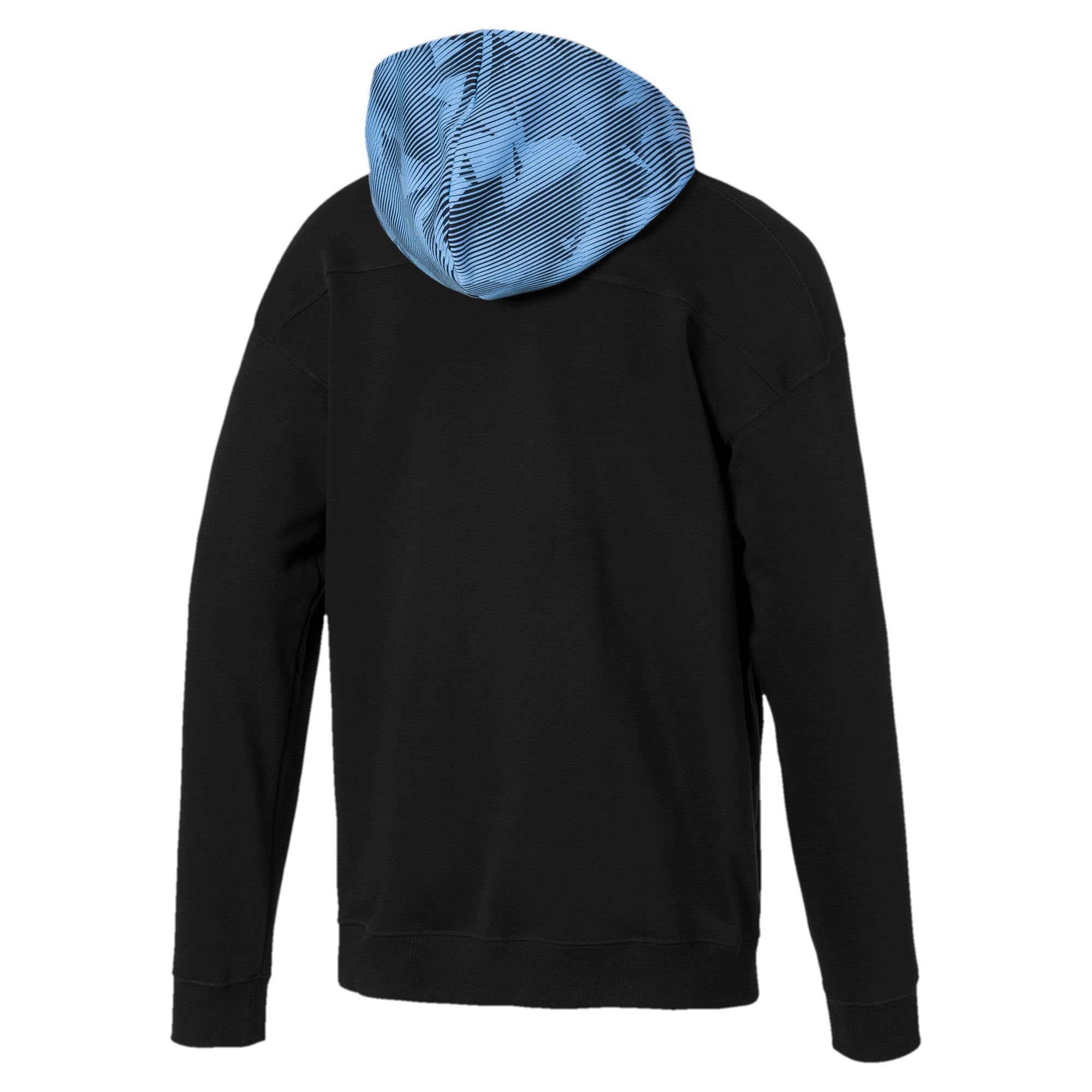 Thumbnail 2 of Manchester City Casuals Herren Kapuzenjacke, Puma Black-Team Light Blue, medium
