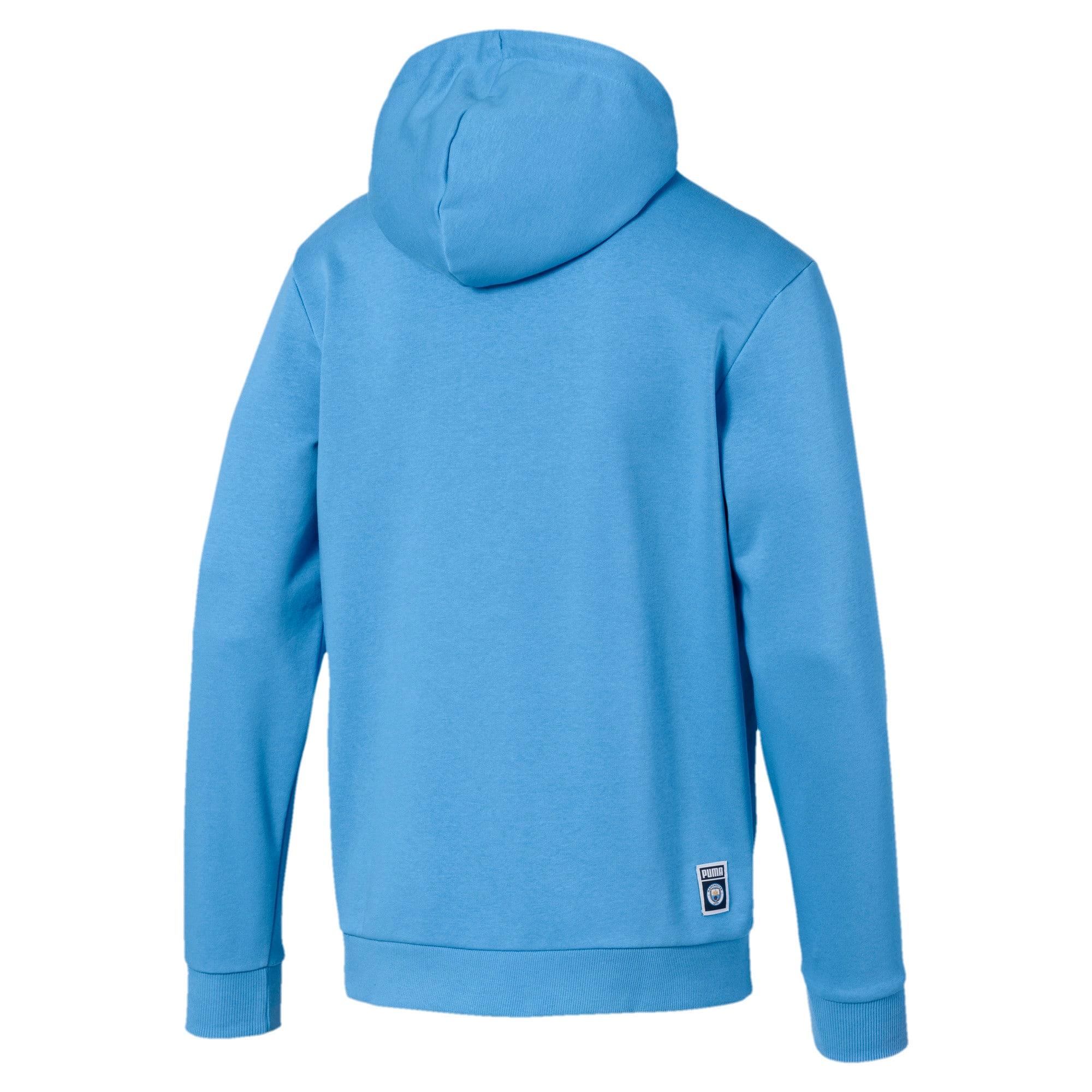 Thumbnail 2 of Manchester City FC Men's Shoe Tag Hoodie, Team Light Blue-Puma White, medium