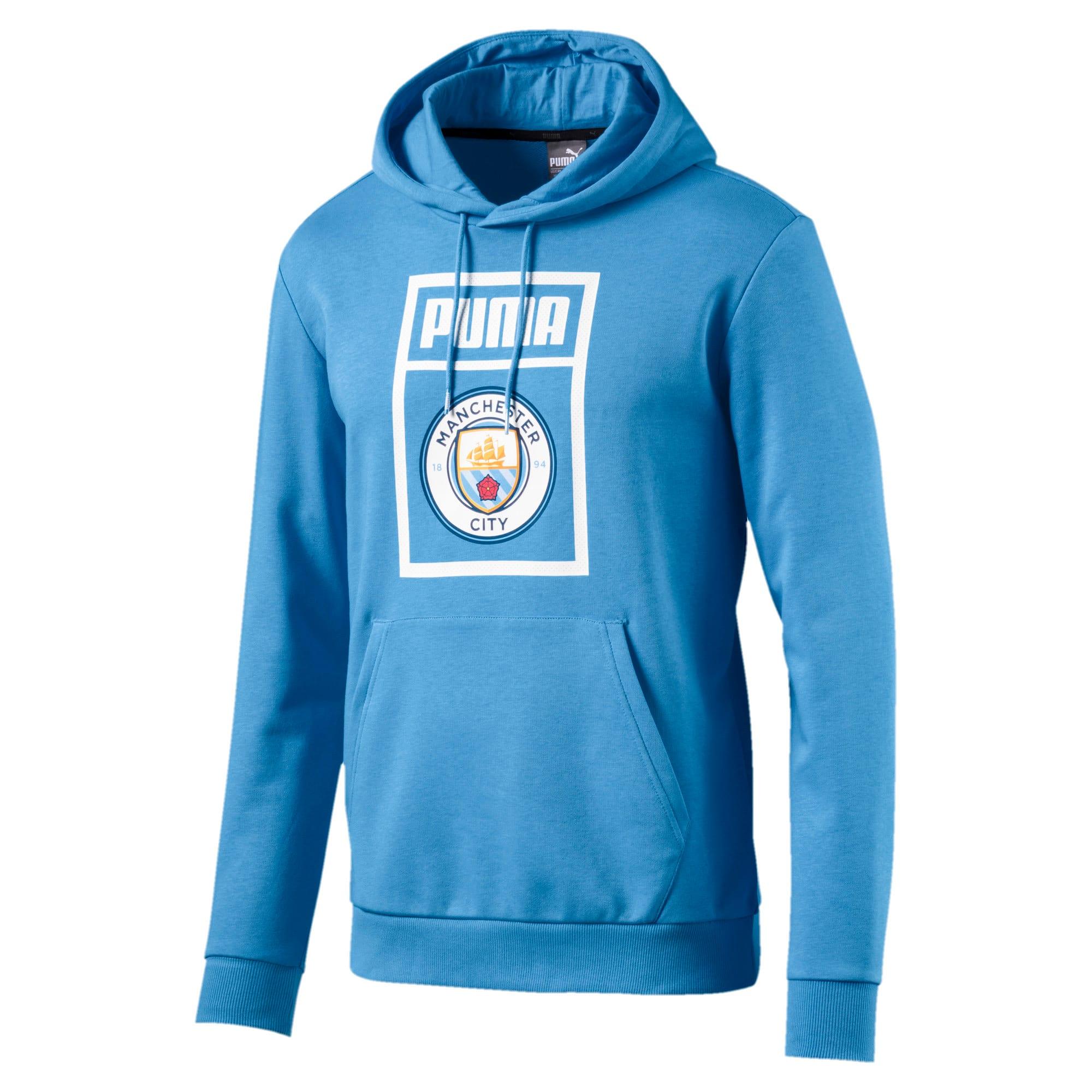Thumbnail 1 of Manchester City FC Men's Shoe Tag Hoodie, Team Light Blue-Puma White, medium
