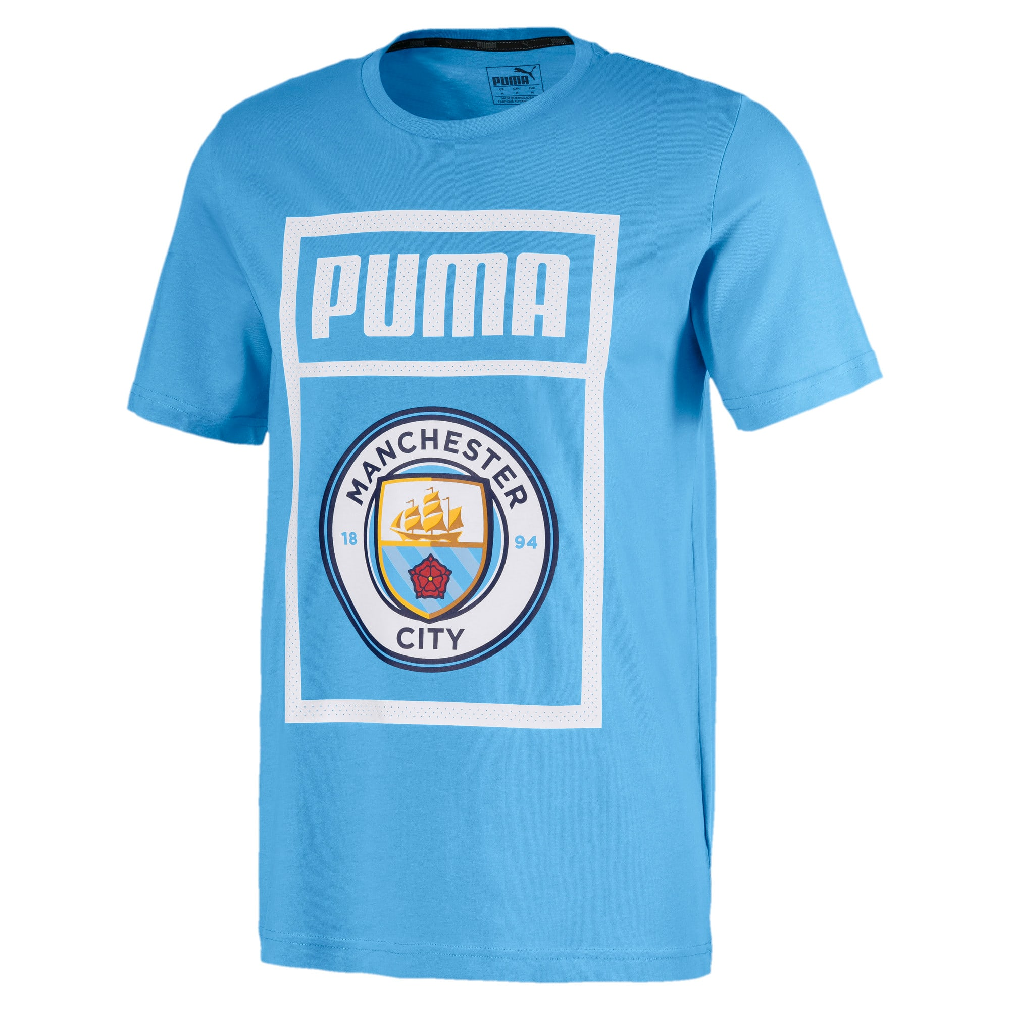 Thumbnail 1 of Essentials Short Sleeve Men's Tee, Team Light Blue-Puma white, medium