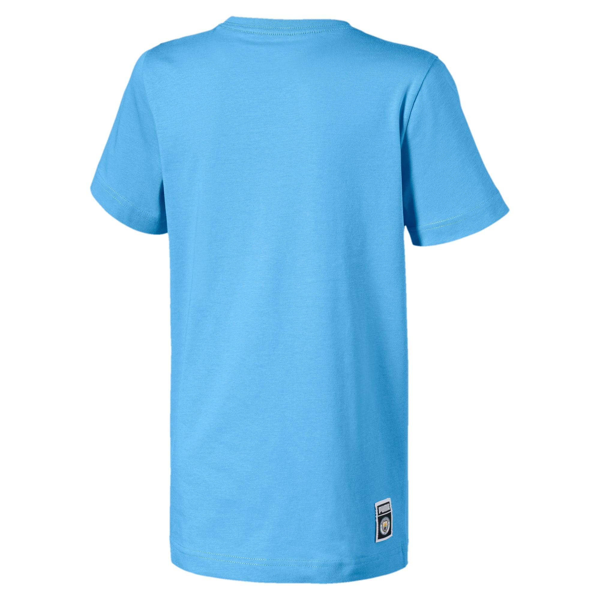 Imagen en miniatura 2 de Camiseta con etiqueta de zapatillas de niño Man City, Team Light Blue-puma white, mediana
