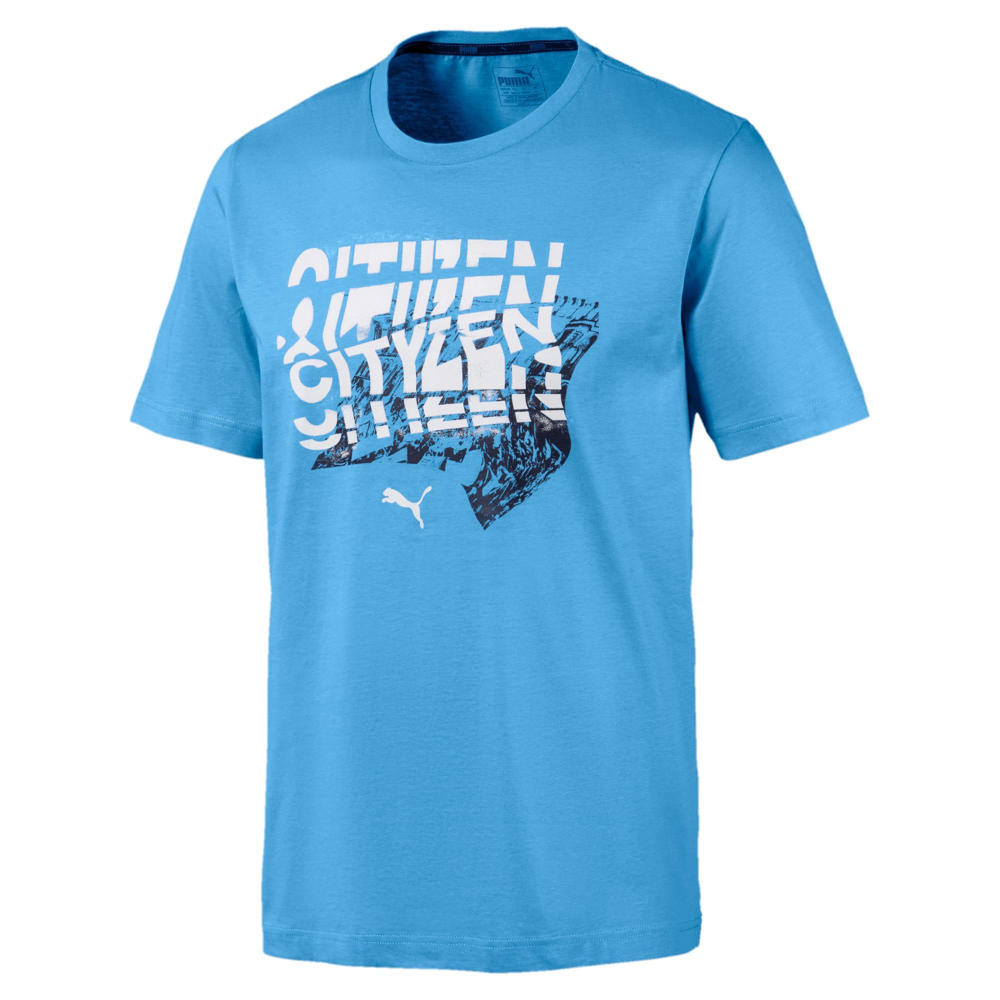 Miniatura 1 de Camiseta Manchester City FC estampada para hombre, Team Light Blue, mediano