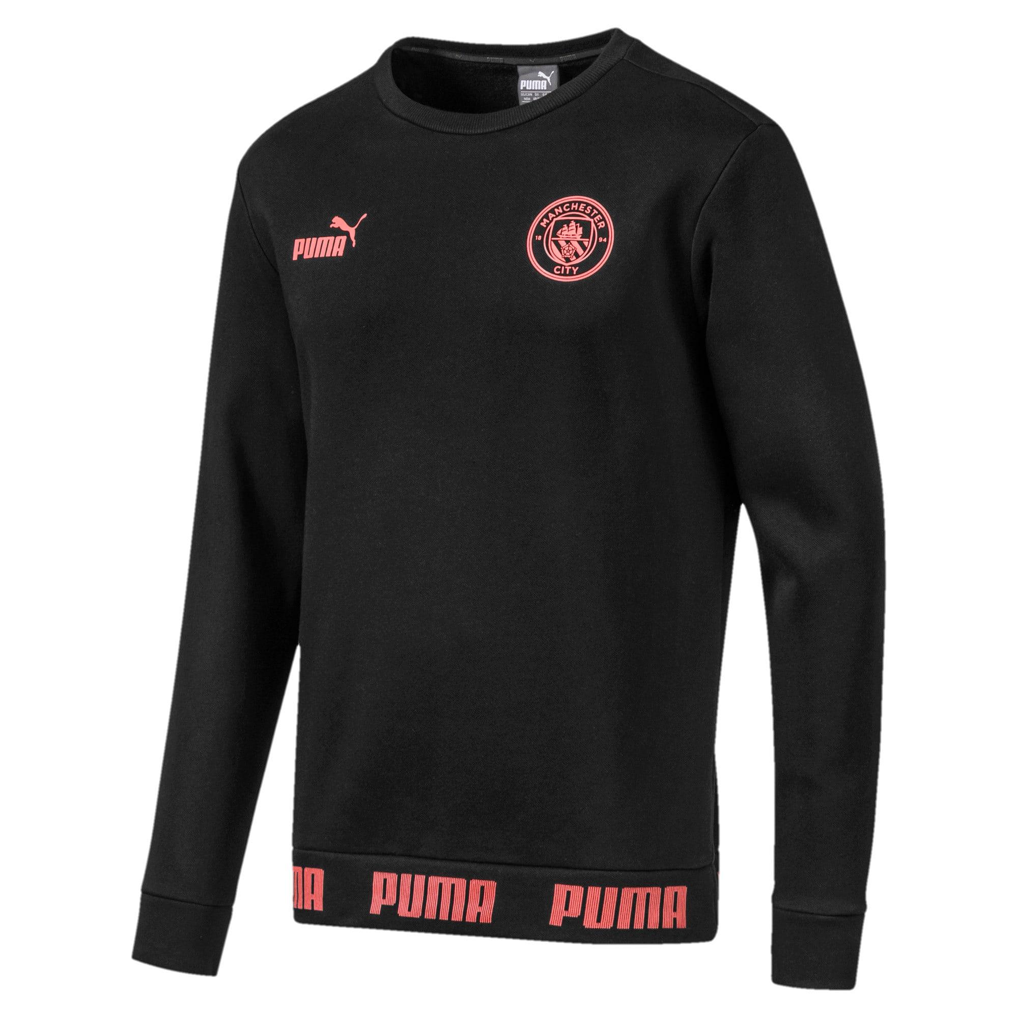 Thumbnail 1 of Manchester City FC FtblCulture Men's Sweatshirt, Puma Black-Georgia Peach, medium