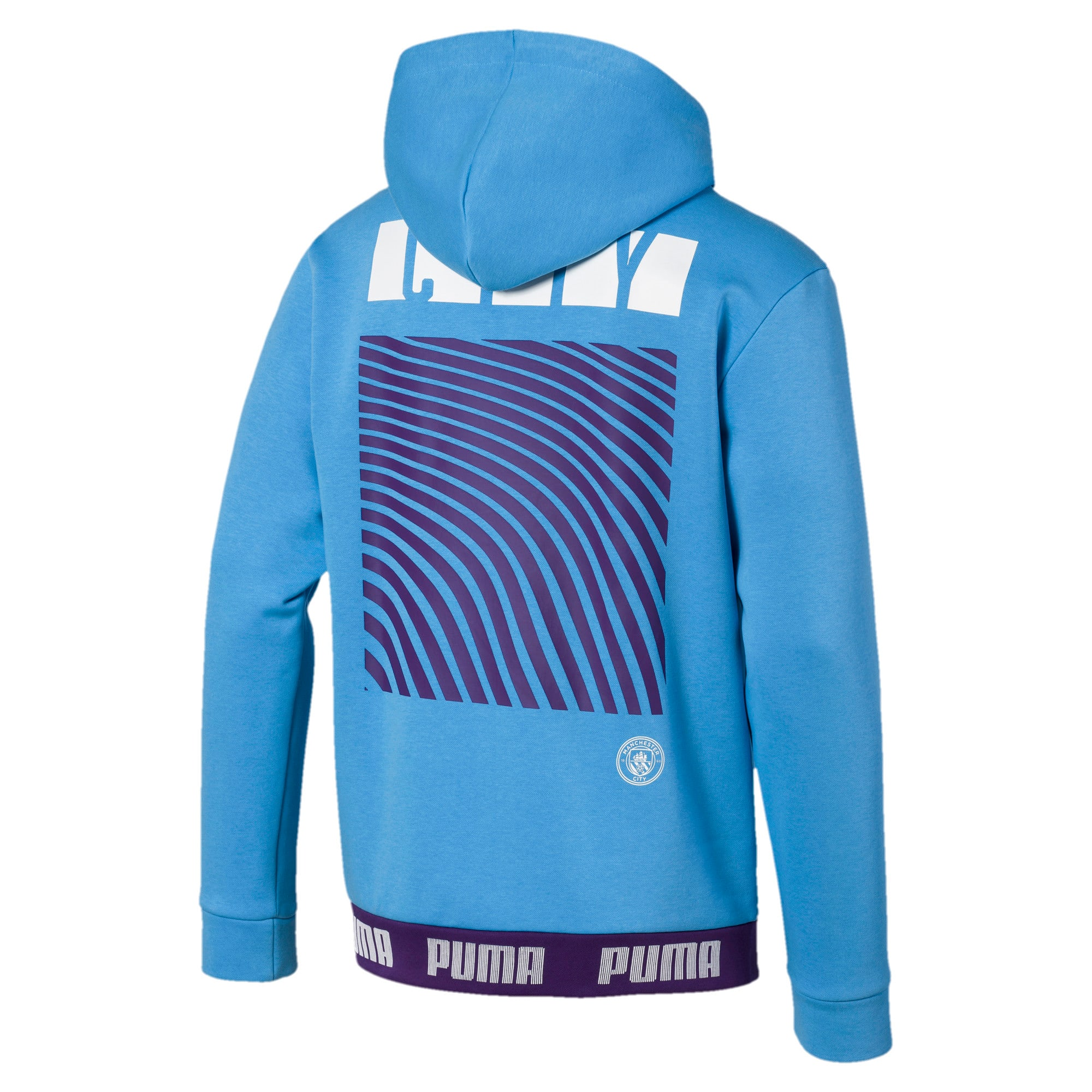 Thumbnail 2 of Manchester City FC FtblCulture Men's Hoodie, Team Light Blue-Puma White, medium