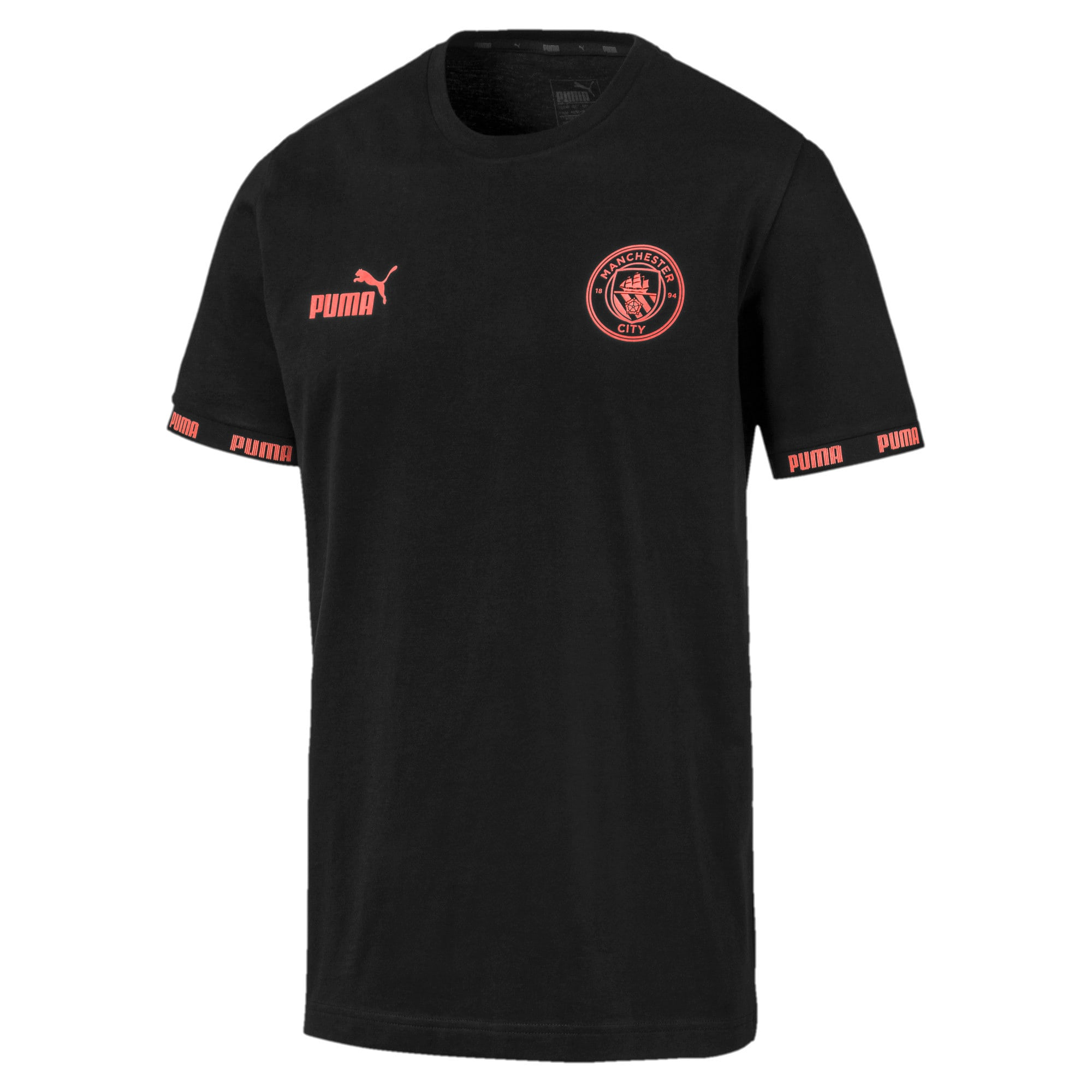 Camiseta de fútbol de hombre Culture Man City, Puma Black-georgia peach, grande
