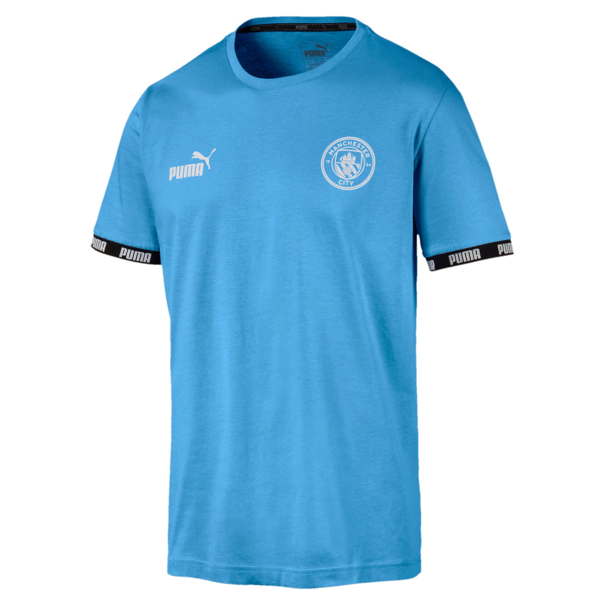 Anteprima 1 di Man City Men's Football Culture Tee, Team Light Blue, medio