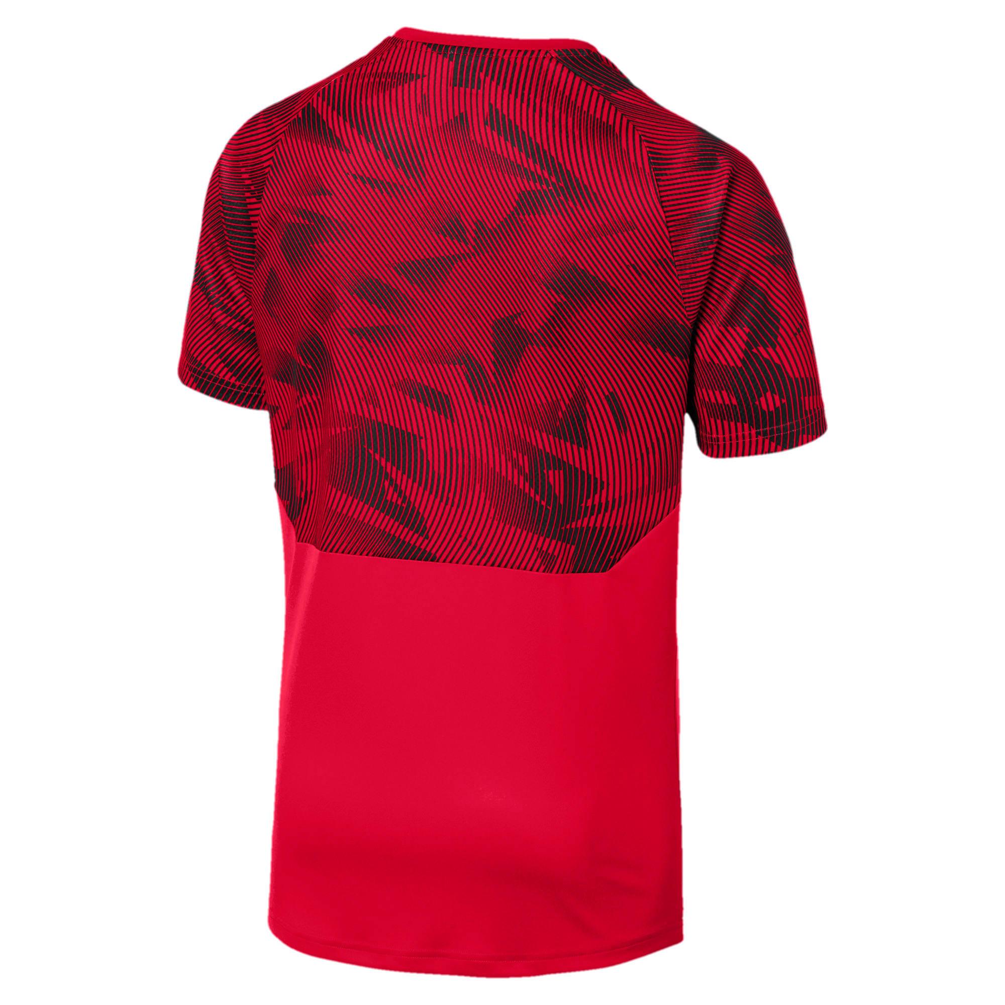 Miniatura 5 de Camiseta de entrenamiento AC Milan para hombre, Tango Red -Puma Black, mediano