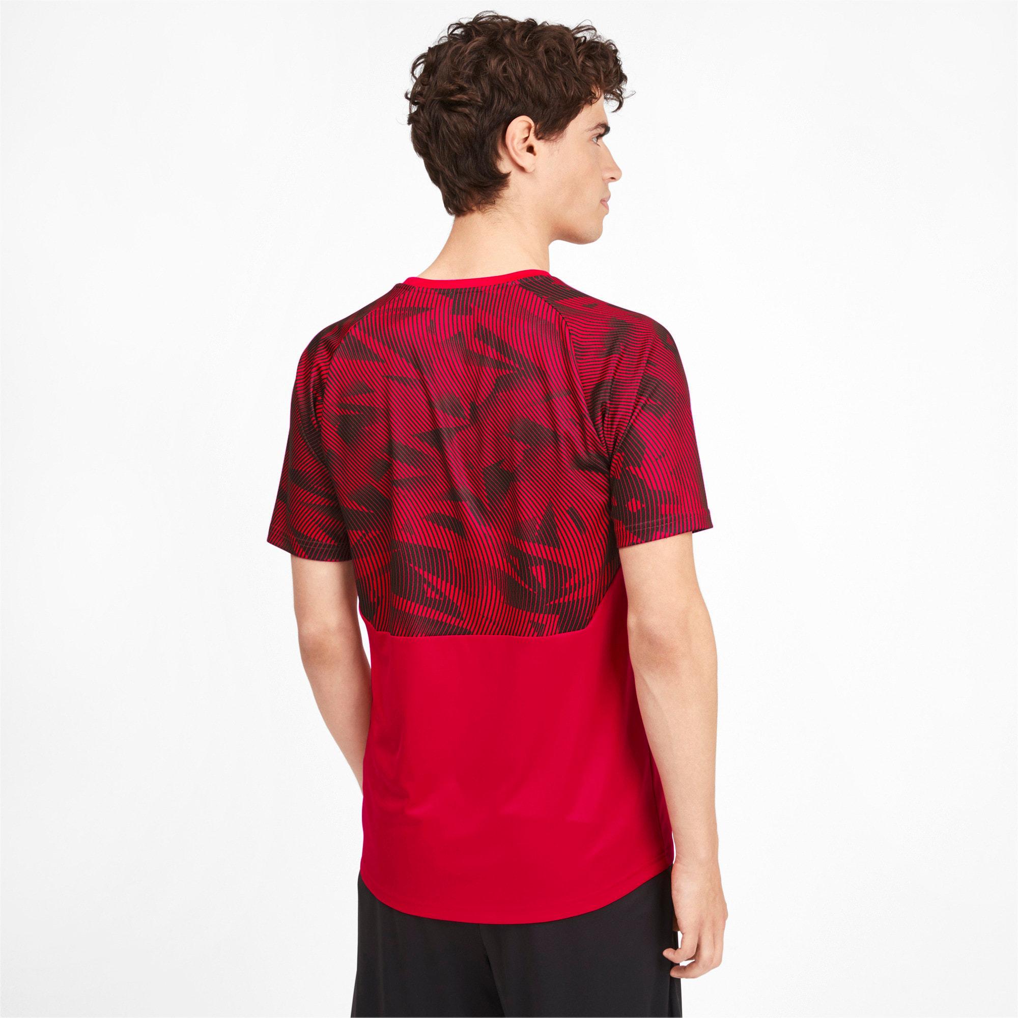 Miniatura 2 de Camiseta de entrenamiento AC Milan para hombre, Tango Red -Puma Black, mediano