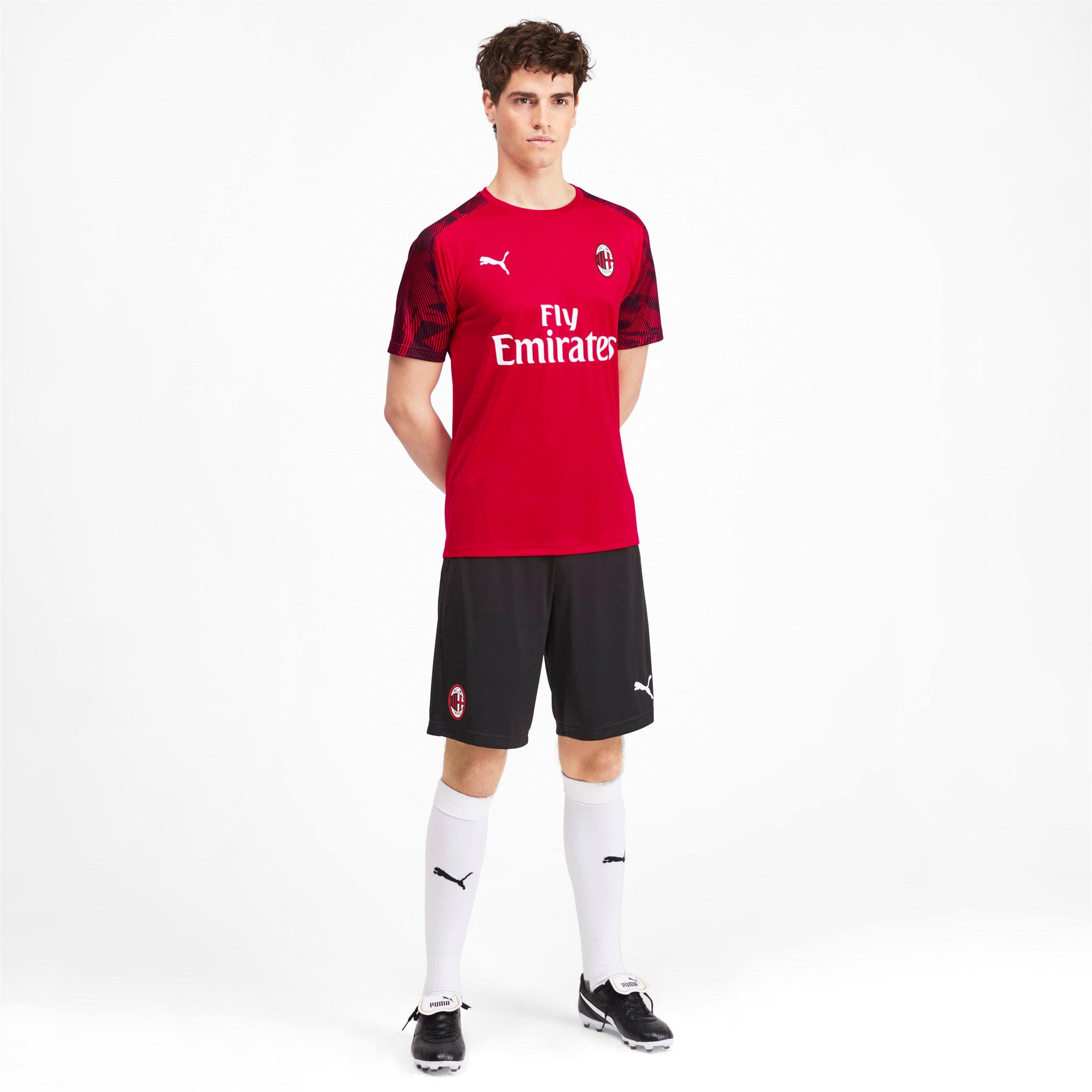 Miniatura 3 de Camiseta de entrenamiento AC Milan para hombre, Tango Red -Puma Black, mediano