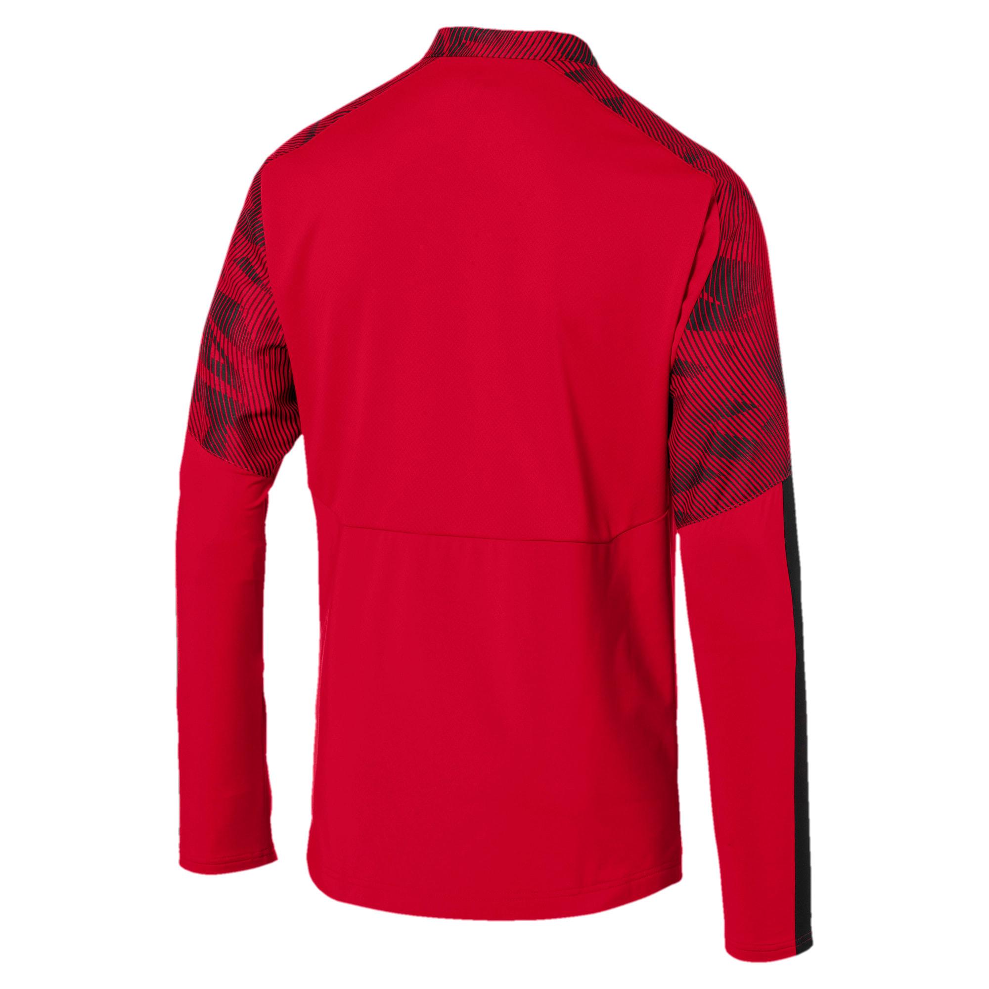 Thumbnail 5 of AC Milan Men's 1/4 Zip Top, Tango Red -Puma Black, medium