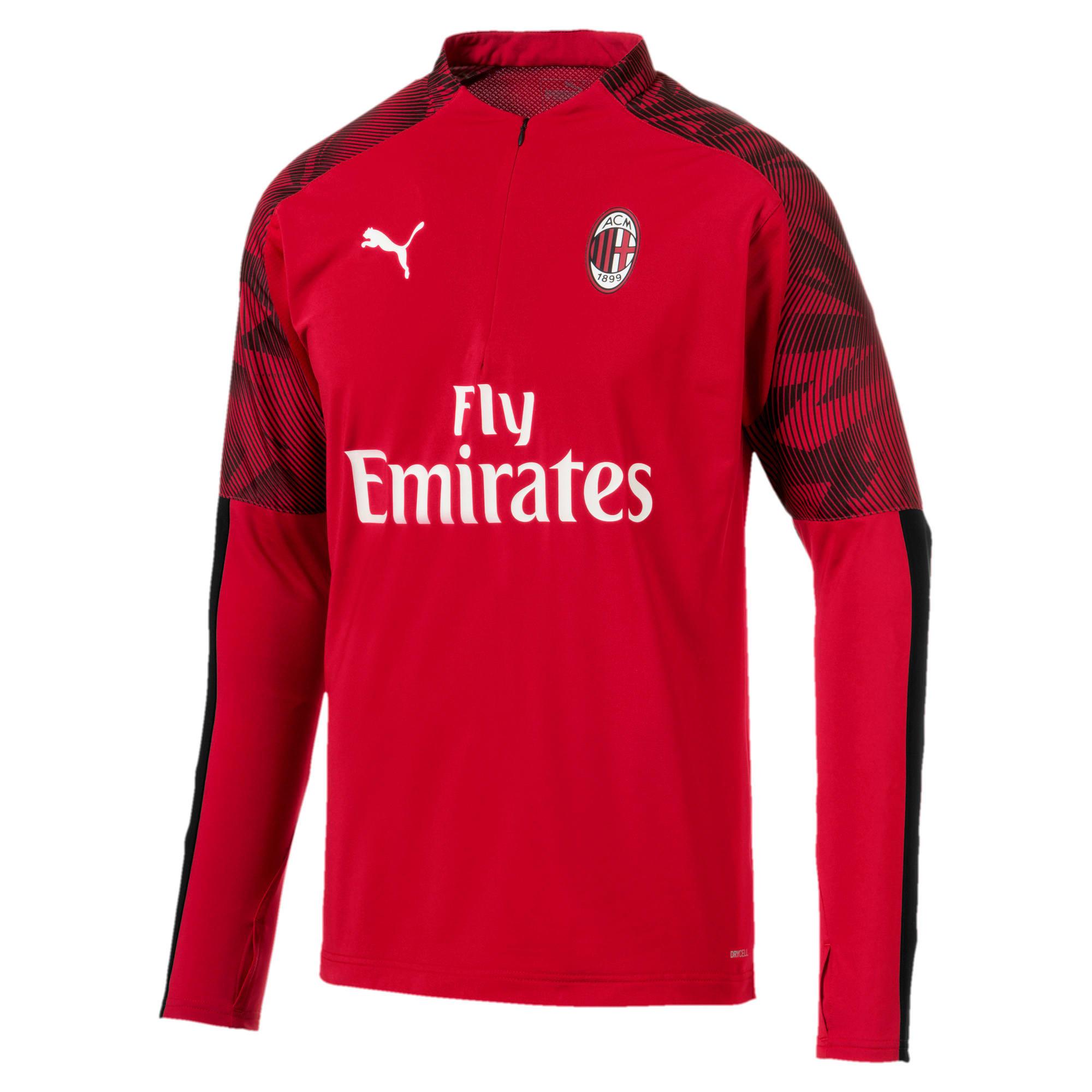 Thumbnail 4 of AC Milan Men's 1/4 Zip Top, Tango Red -Puma Black, medium