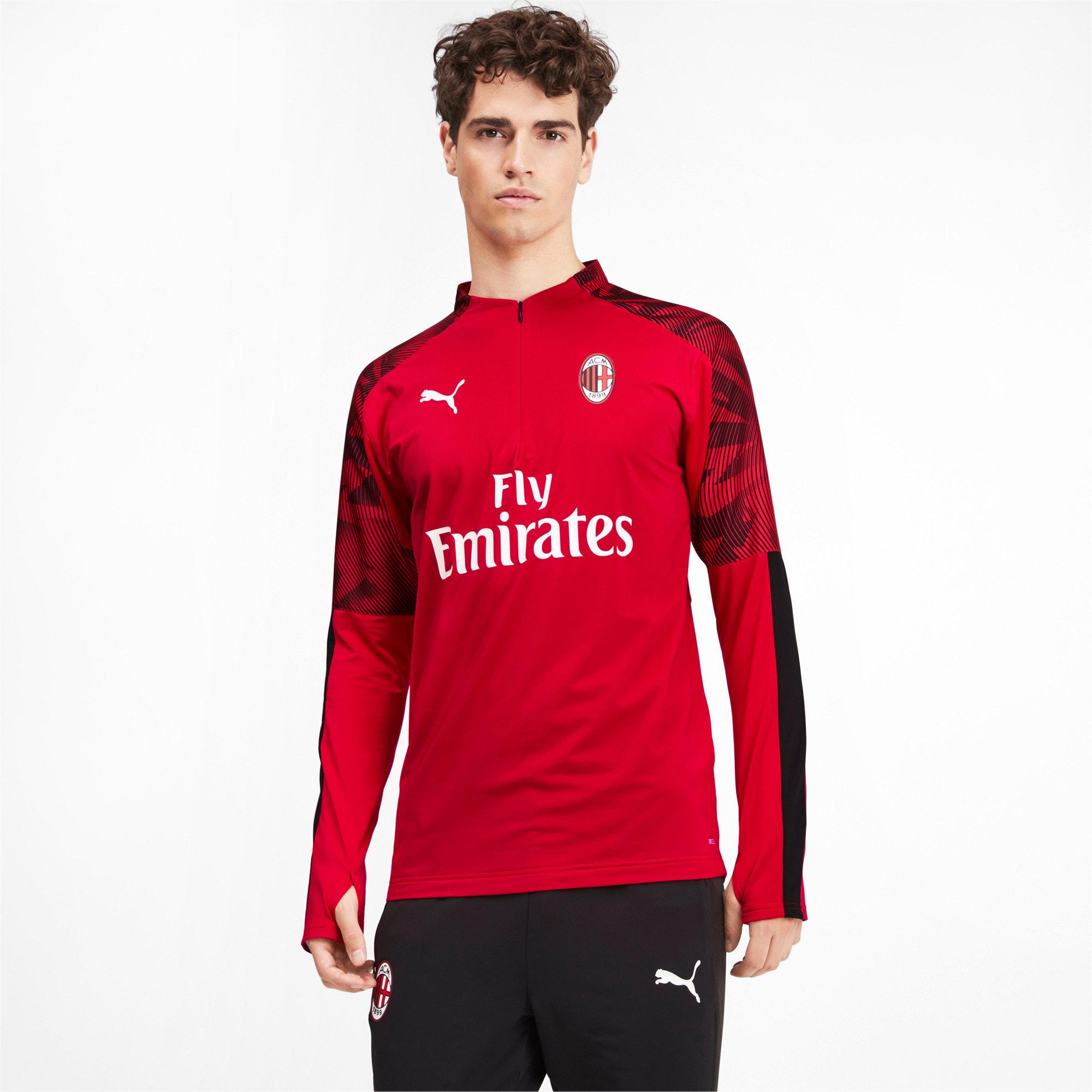 Thumbnail 1 of AC Milan Men's 1/4 Zip Top, Tango Red -Puma Black, medium