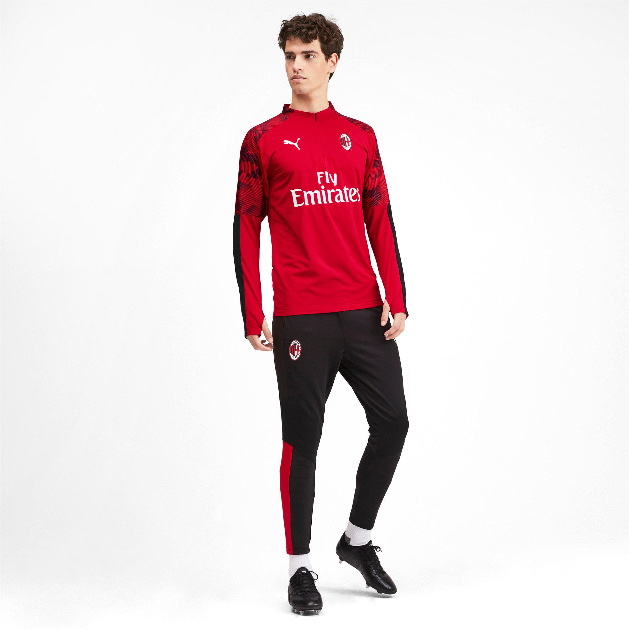 Thumbnail 3 of AC Milan Men's 1/4 Zip Top, Tango Red -Puma Black, medium