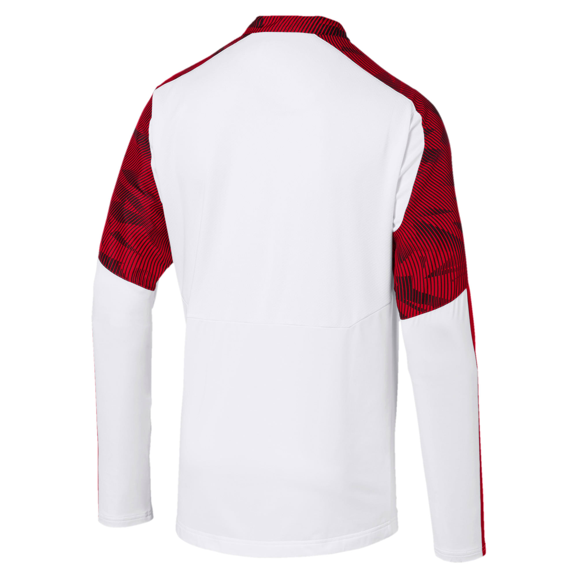 Thumbnail 5 of AC Milan Men's 1/4 Zip Top, Puma White-Tango Red, medium