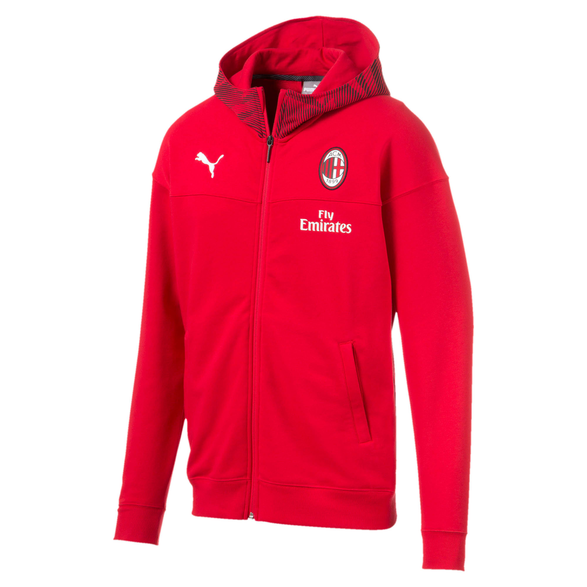 Thumbnail 4 of AC Milan Casuals Men's Hoodie, Tango Red -Puma Black, medium