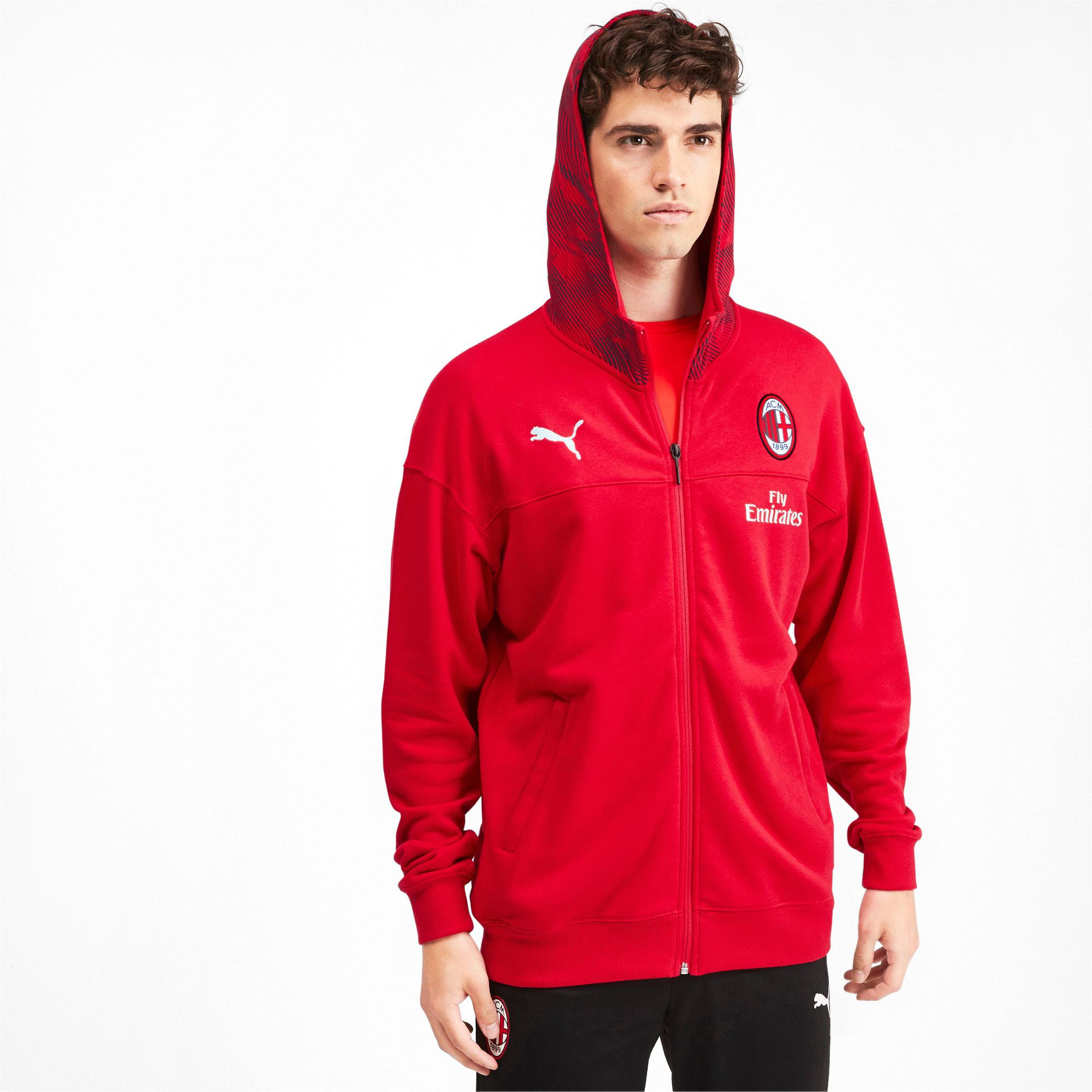 Thumbnail 1 of AC Milan Casuals Men's Hoodie, Tango Red -Puma Black, medium