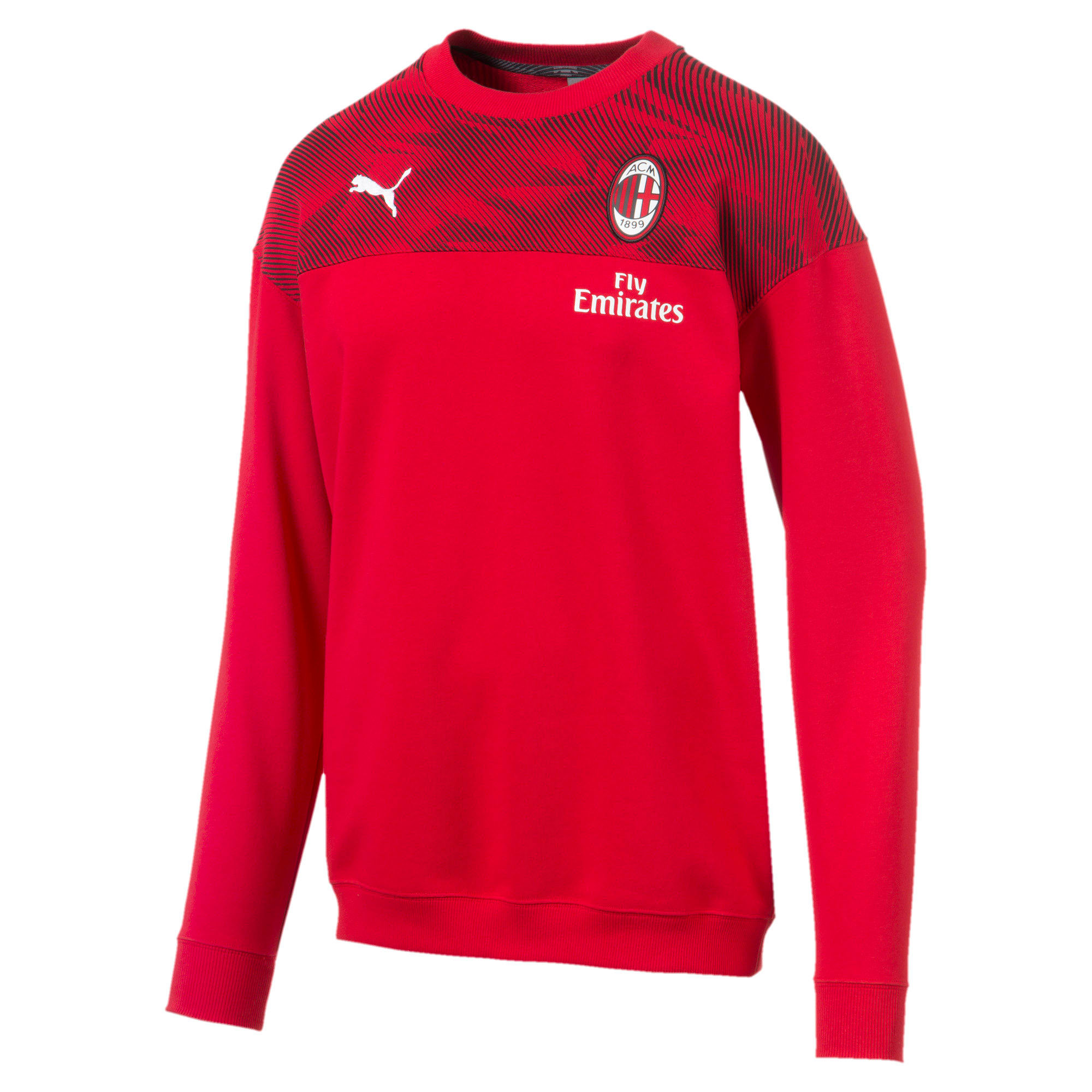 Thumbnail 4 of AC Milan Casuals Men's Sweater, Tango Red -Puma Black, medium