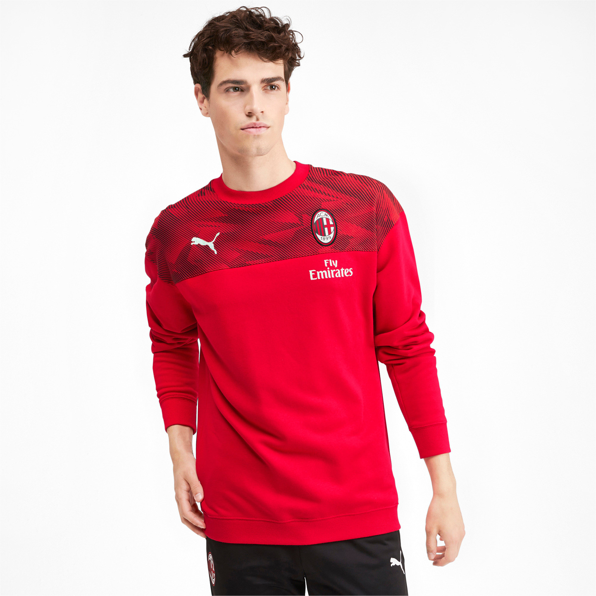 Thumbnail 1 of AC Milan Casuals Men's Sweater, Tango Red -Puma Black, medium
