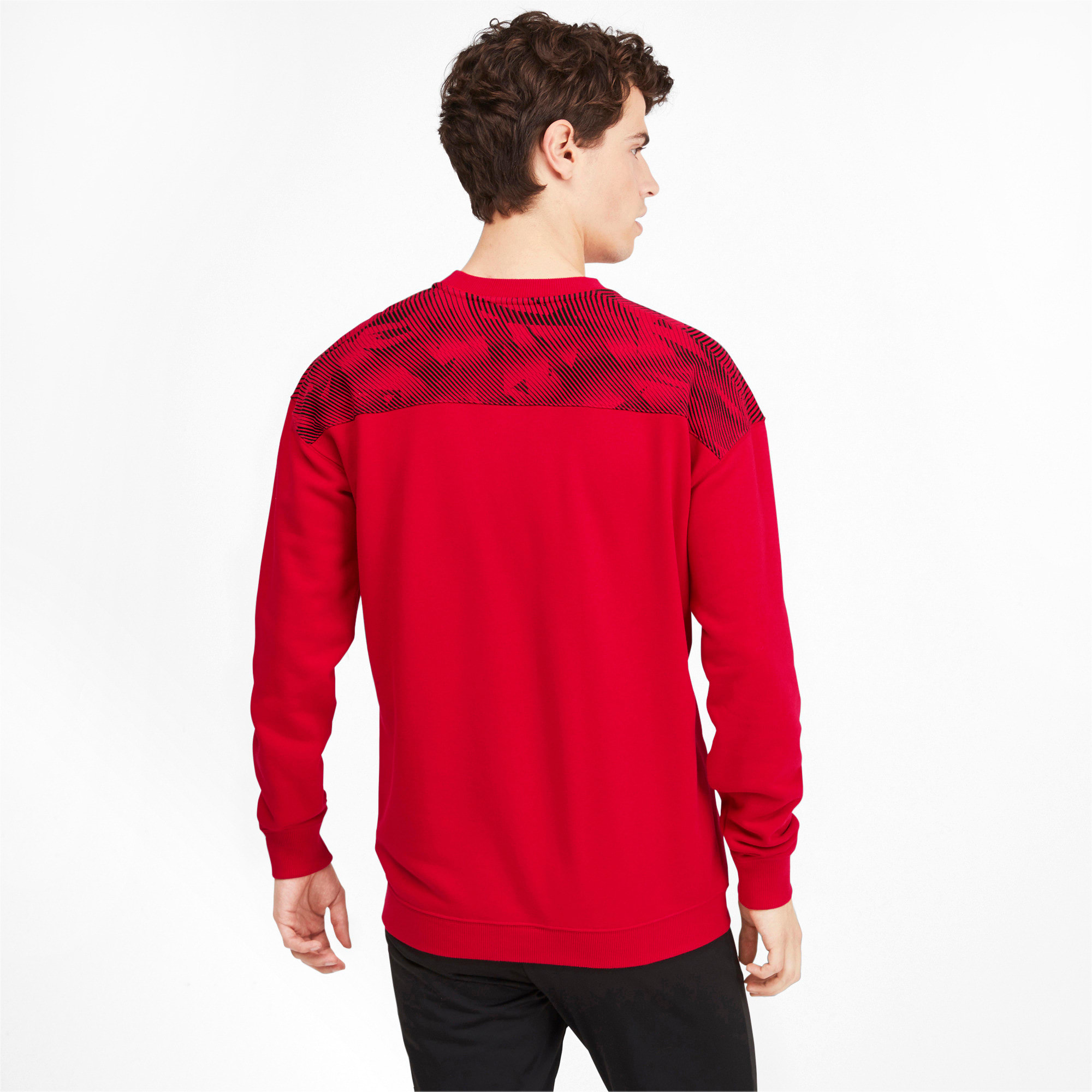 Thumbnail 2 of AC Milan Casuals Men's Sweater, Tango Red -Puma Black, medium