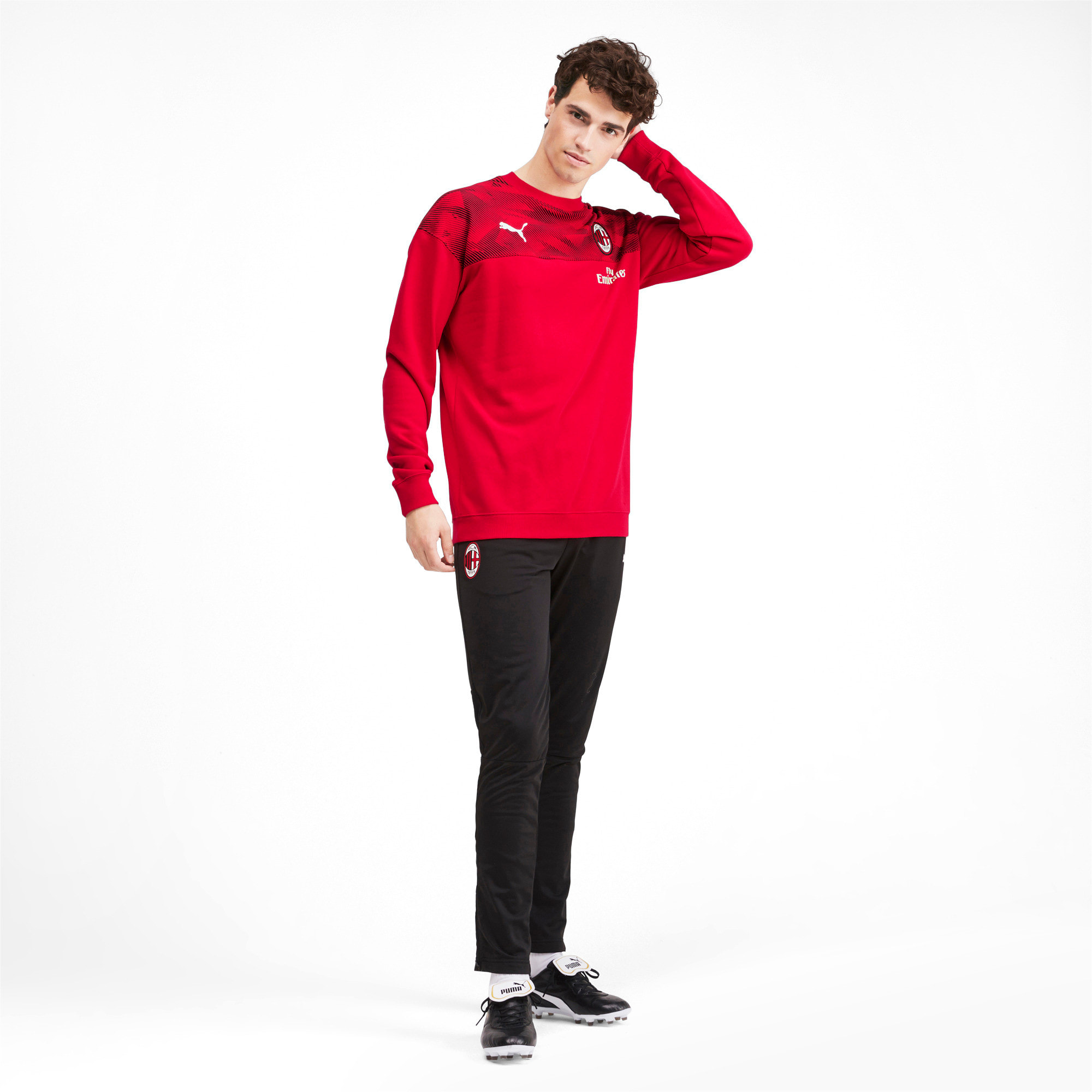 Thumbnail 3 of AC Milan Casuals Men's Sweater, Tango Red -Puma Black, medium