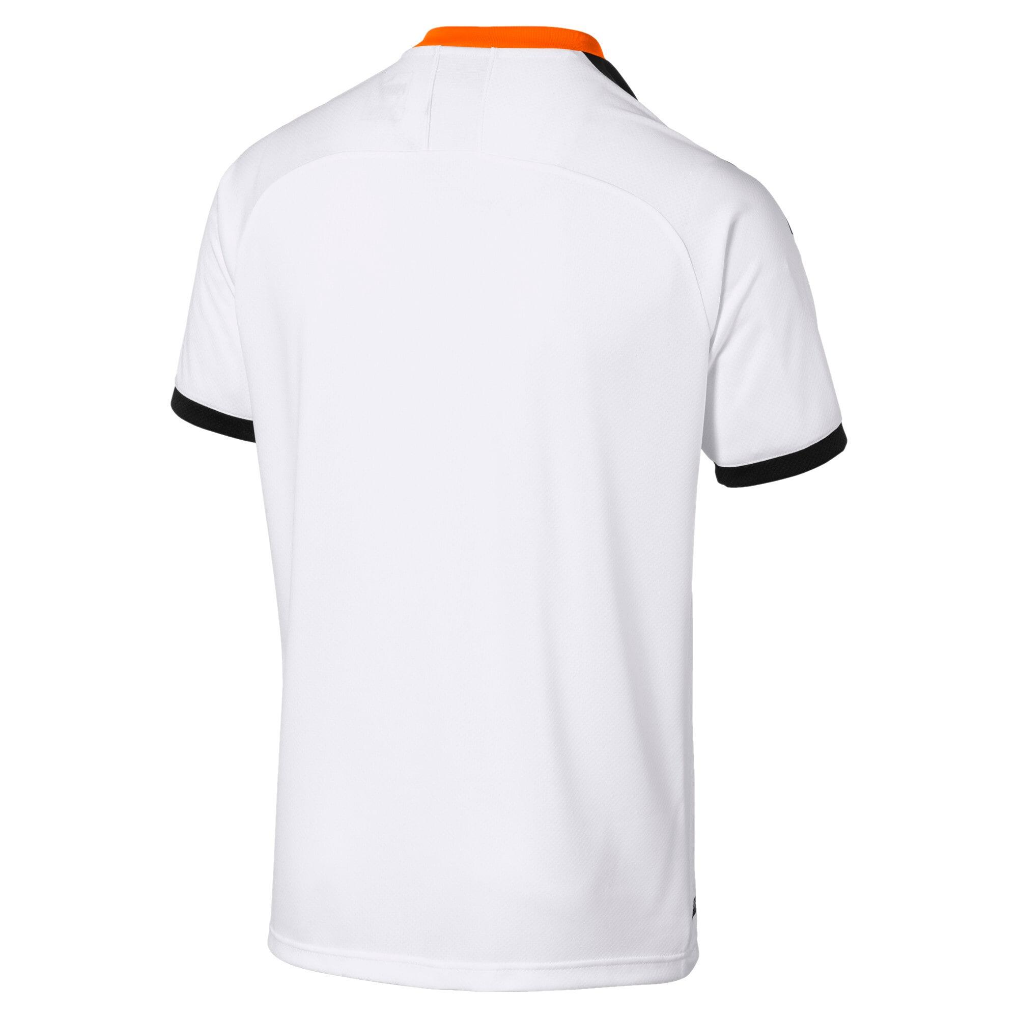 Thumbnail 2 van Valencia CF replica-thuisshirt voor mannen, Wit-zwart-levendig oranje, medium