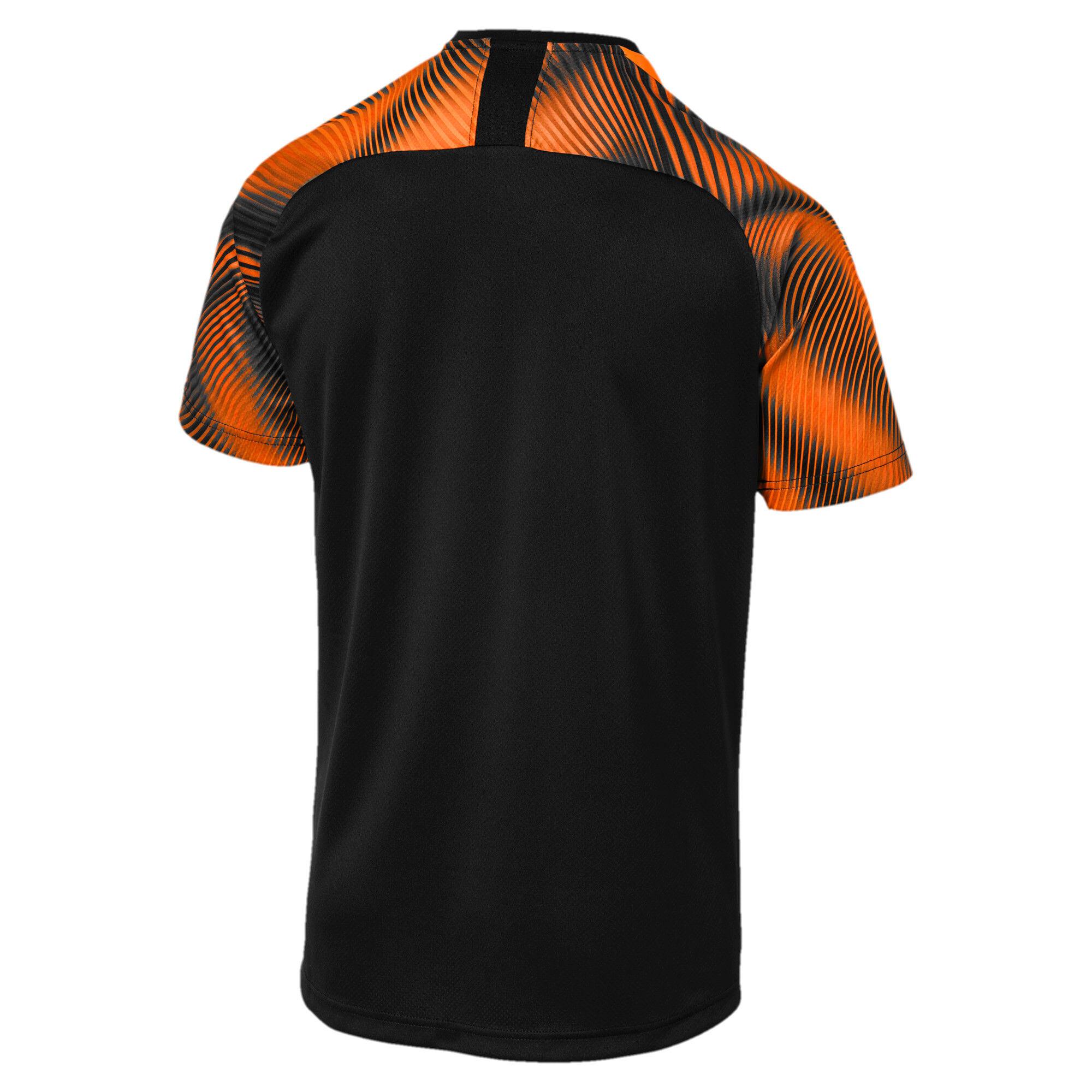 Imagen en miniatura 2 de Camiseta de la segunda equipación de réplica de hombre Valencia CF, Puma Black-Vibrant Orange, mediana