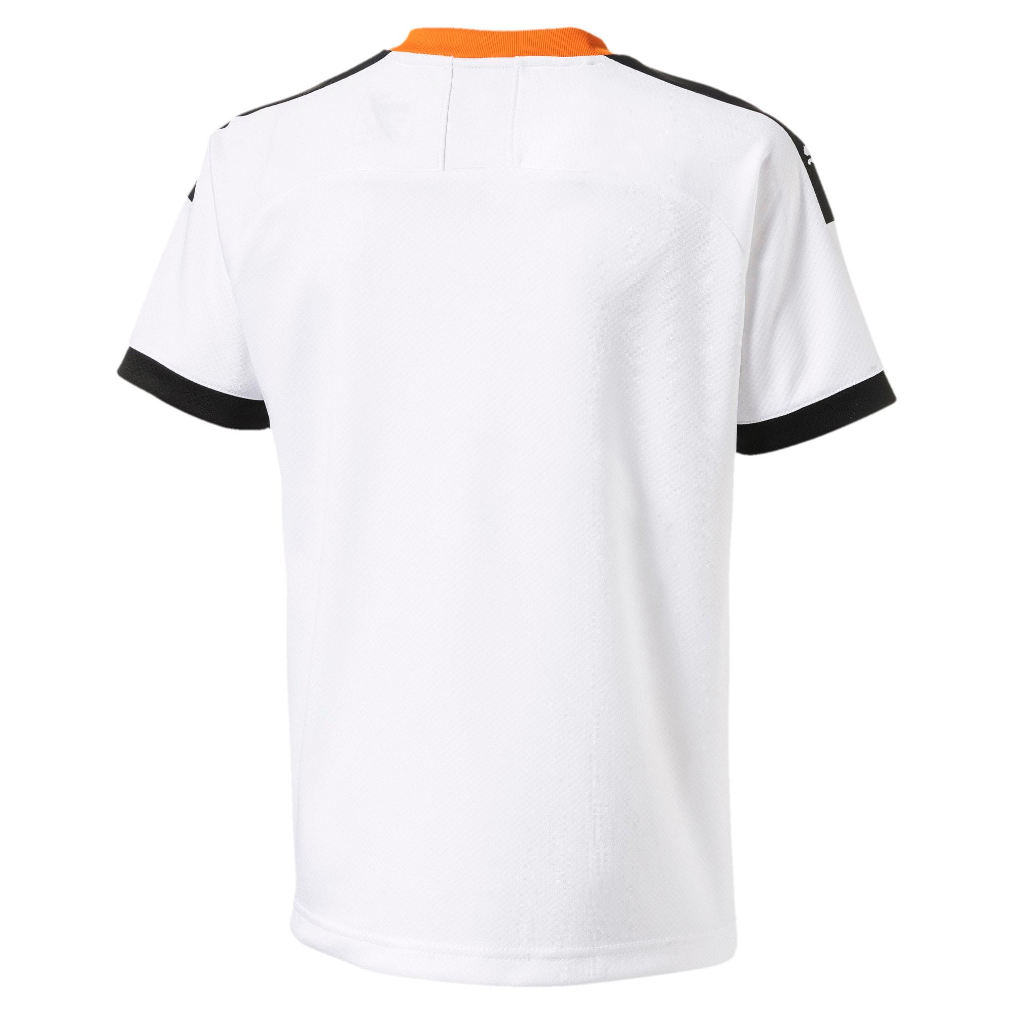 Thumbnail 2 of Valencia CF Home Replica Kids' Jersey, White- Black-Vibrant Orange, medium