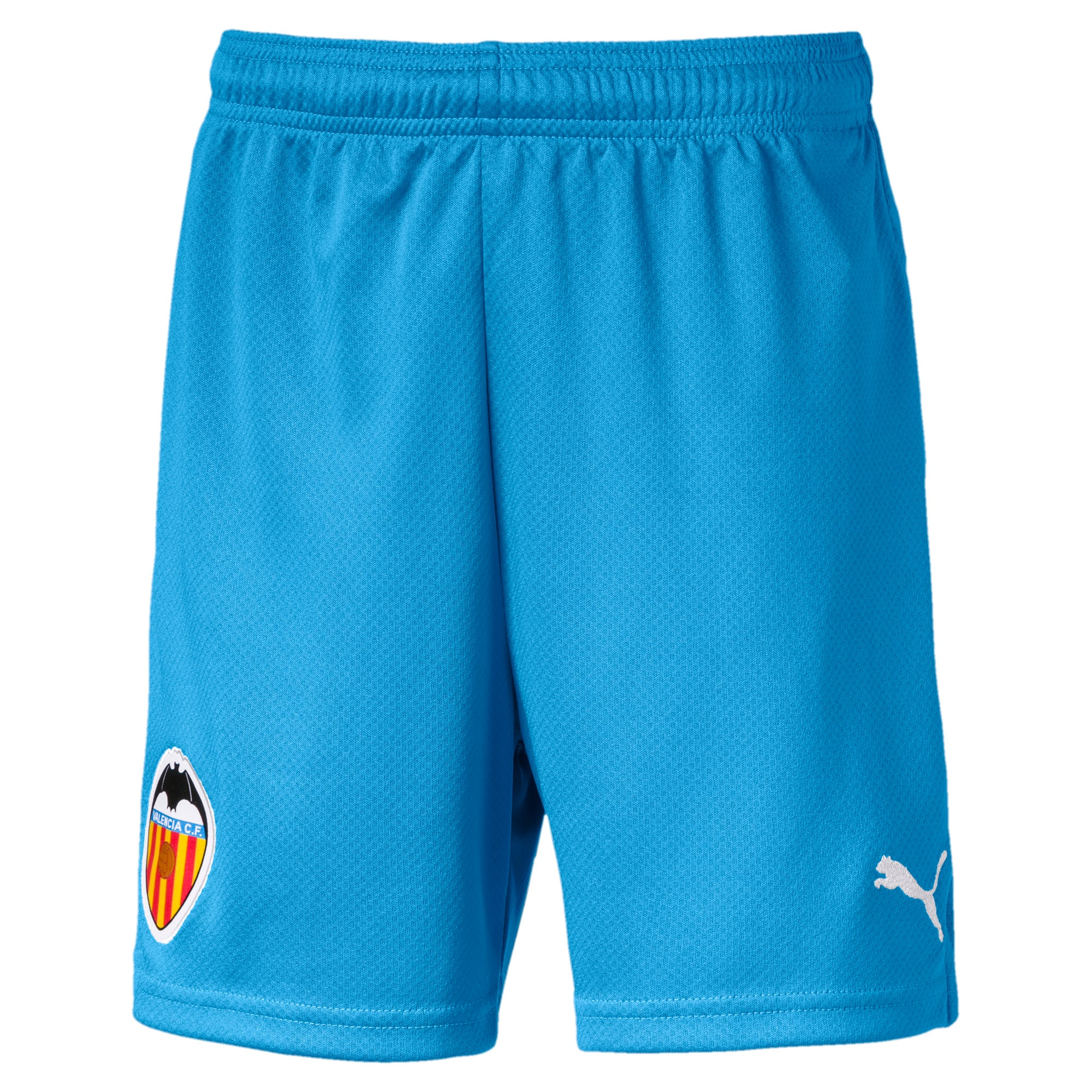 Thumbnail 1 of Valencia CF Jungen Replica Shorts, Bleu Azur-Puma White, medium