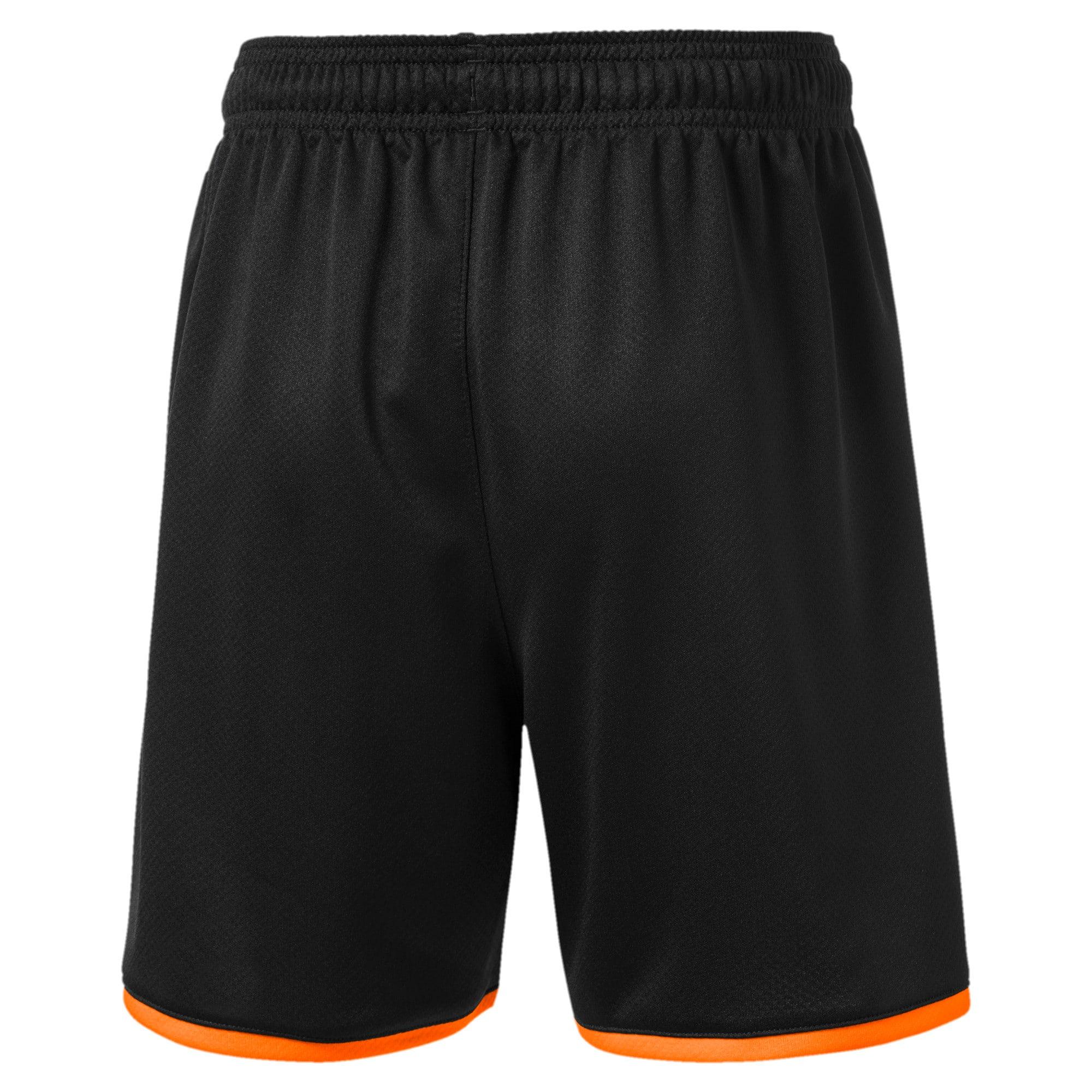 Thumbnail 2 of Valencia CF Jungen Replica Shorts, Puma Black-Vibrant Orange, medium