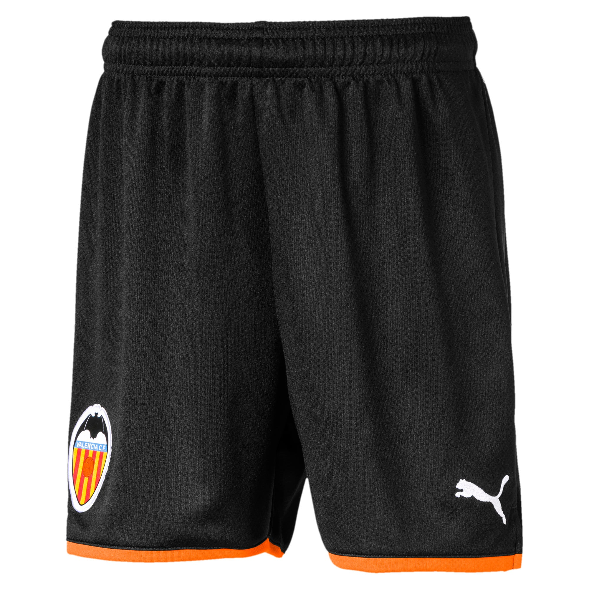Thumbnail 1 of Valencia CF Boys' Replica Shorts, Puma Black-Vibrant Orange, medium