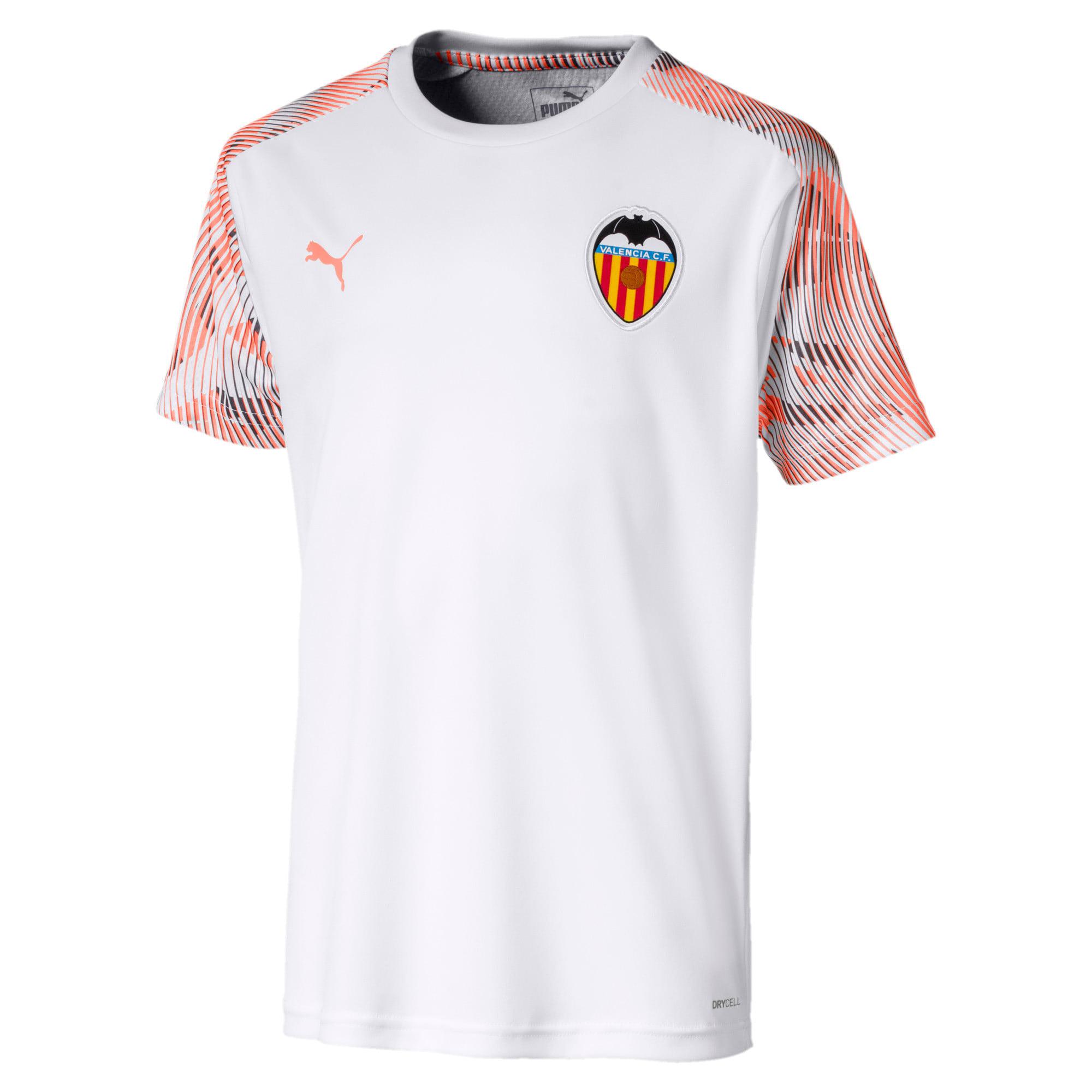 Thumbnail 1 of Valencia CF Kids' Training Jersey, Puma White-Fizzy Orange, medium