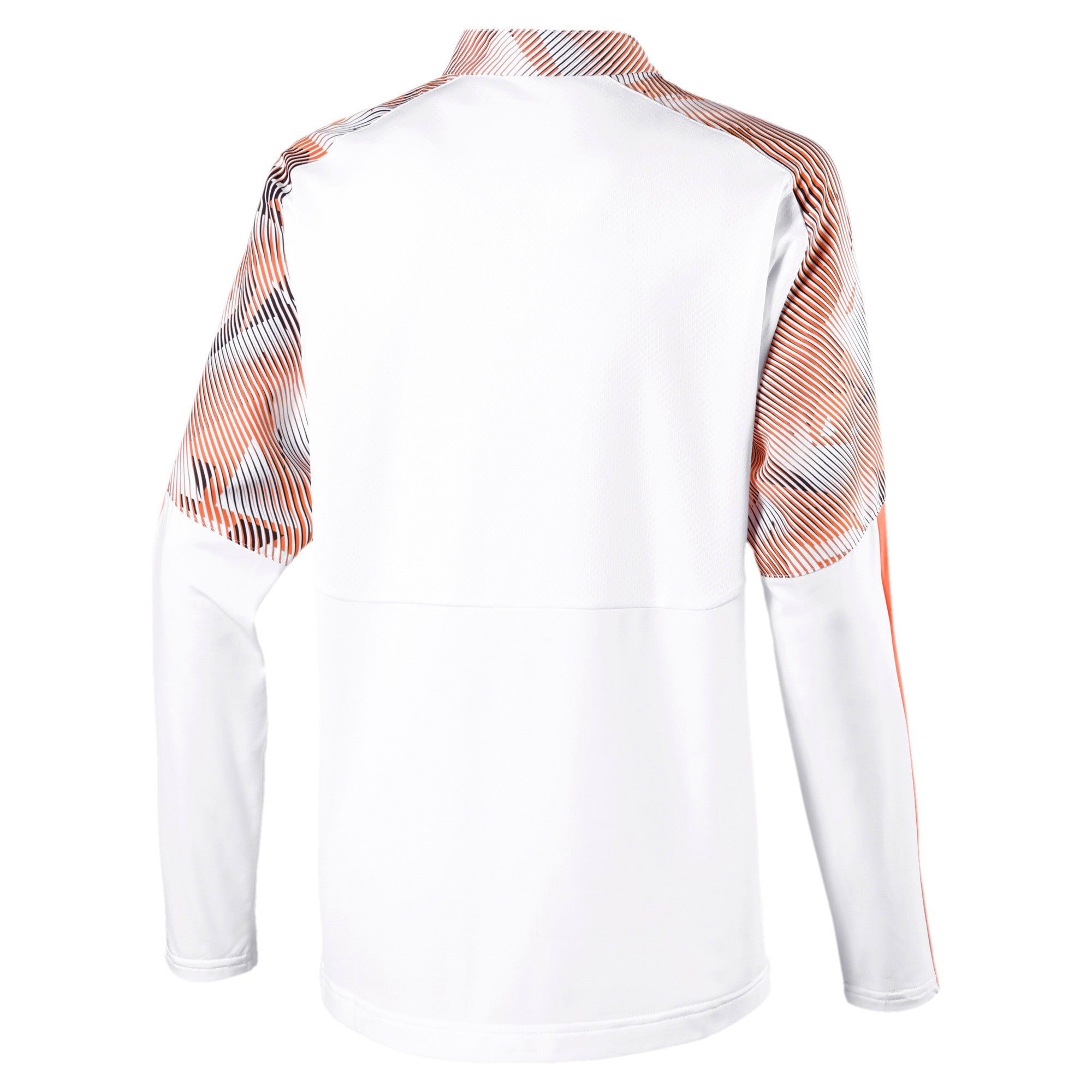 Imagen en miniatura 2 de Camiseta de training con media cremallera de niño Valencia CF, Puma White-Fizzy Orange, mediana
