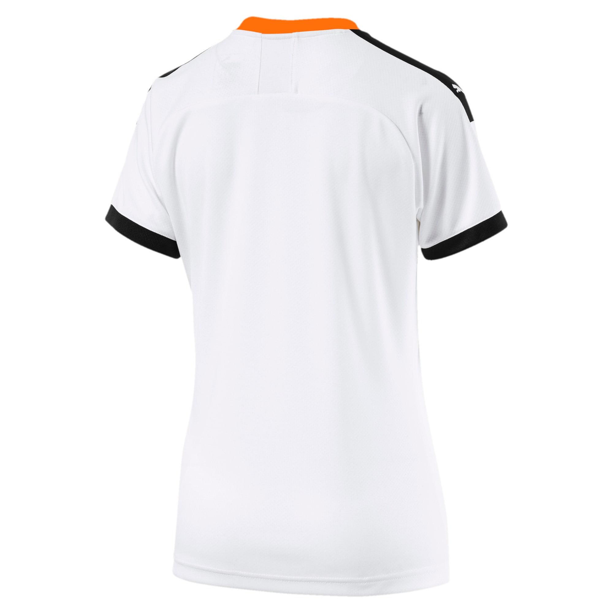 Imagen en miniatura 2 de Camiseta de la primera equipación de réplica de mujer Valencia CF, White- Black-Vibrant Orange, mediana