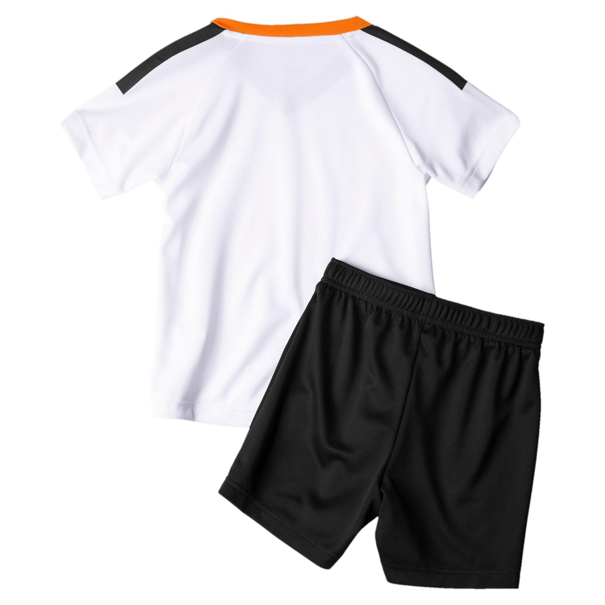 Imagen en miniatura 2 de Minikit de la primera equipación de niño Valencia CF, White- Black-Vibrant Orange, mediana