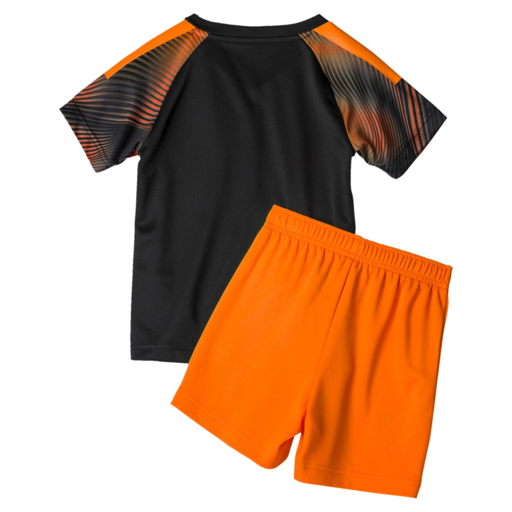 Thumbnail 2 of Valencia CF Away Kids' Mini Kit, Puma Black-Vibrant Orange, medium