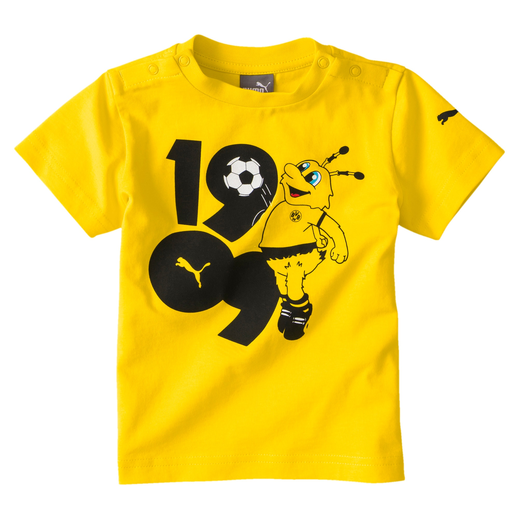 BVB Minicats Graphic Kids' Tee, Cyber Yellow, large