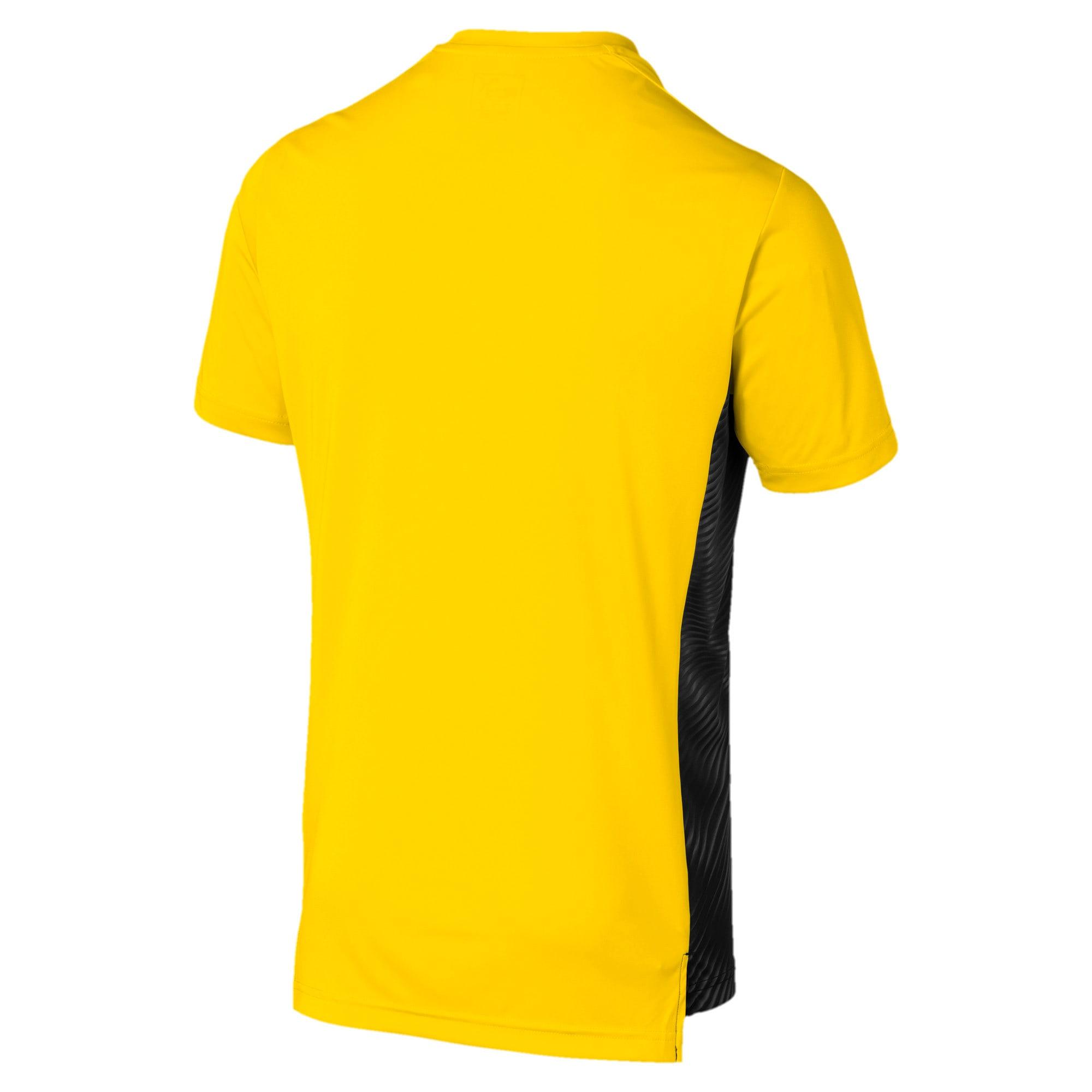 Thumbnail 2 of BVB Men's League Stadium Jersey, Cyber Yellow-Puma Black, medium