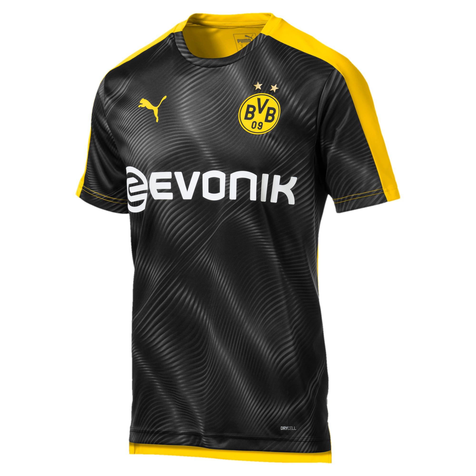 Thumbnail 1 of BVB Men's League Stadium Jersey, Cyber Yellow-Puma Black, medium