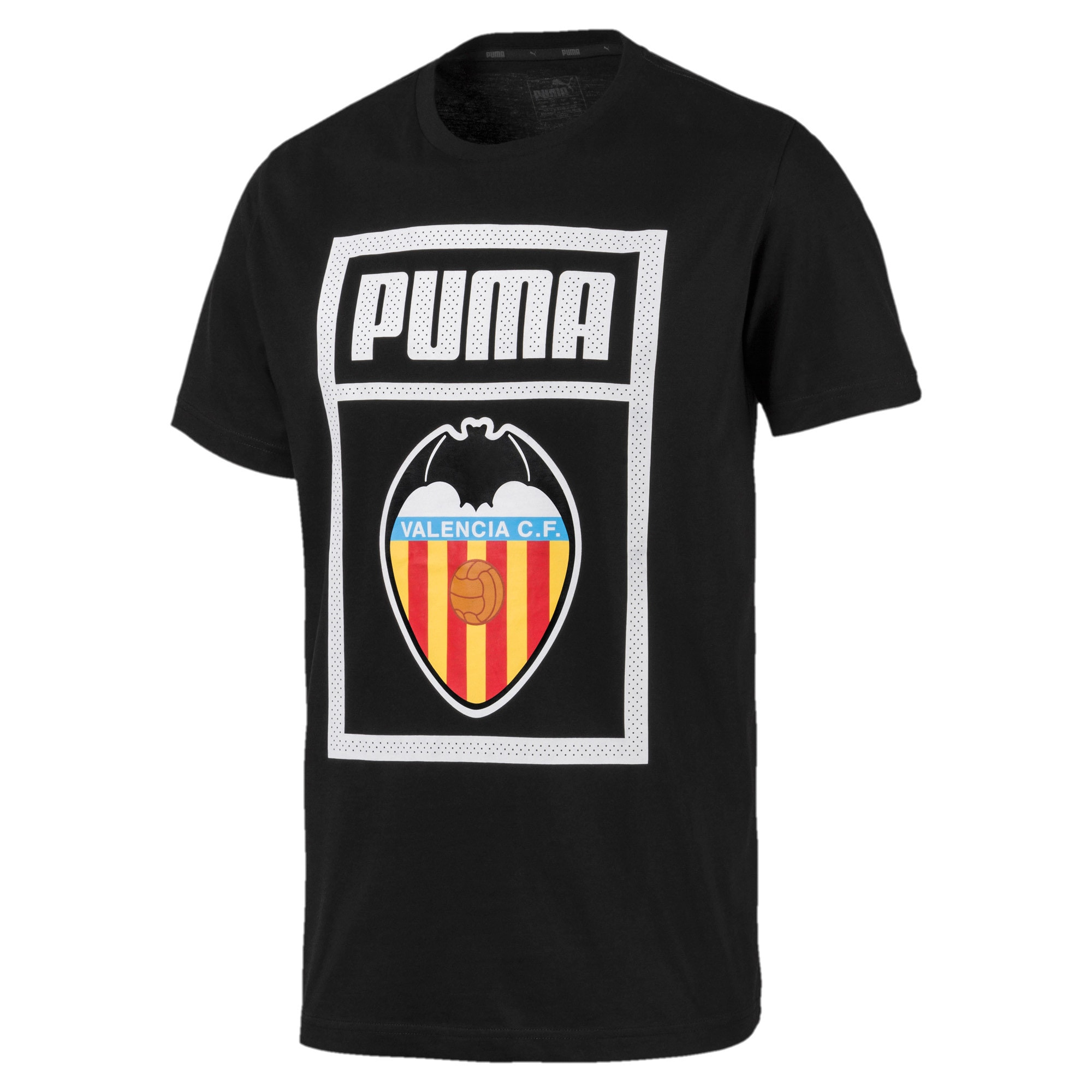 Valencia CF Shoe Tag T-shirt voor mannen, Puma Black, large