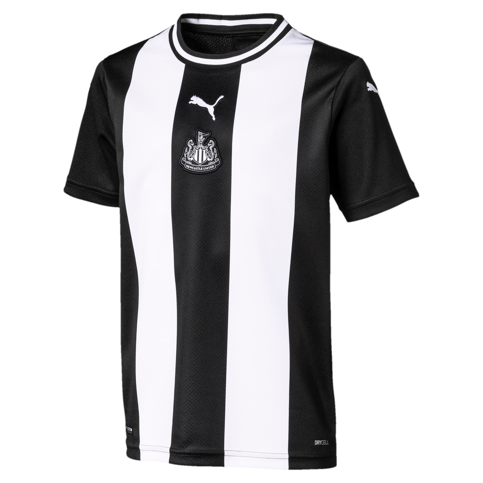 Thumbnail 1 of Newcastle United FC Kids' Replica Home Short Sleeve Jersey, Puma White-Puma Black, medium