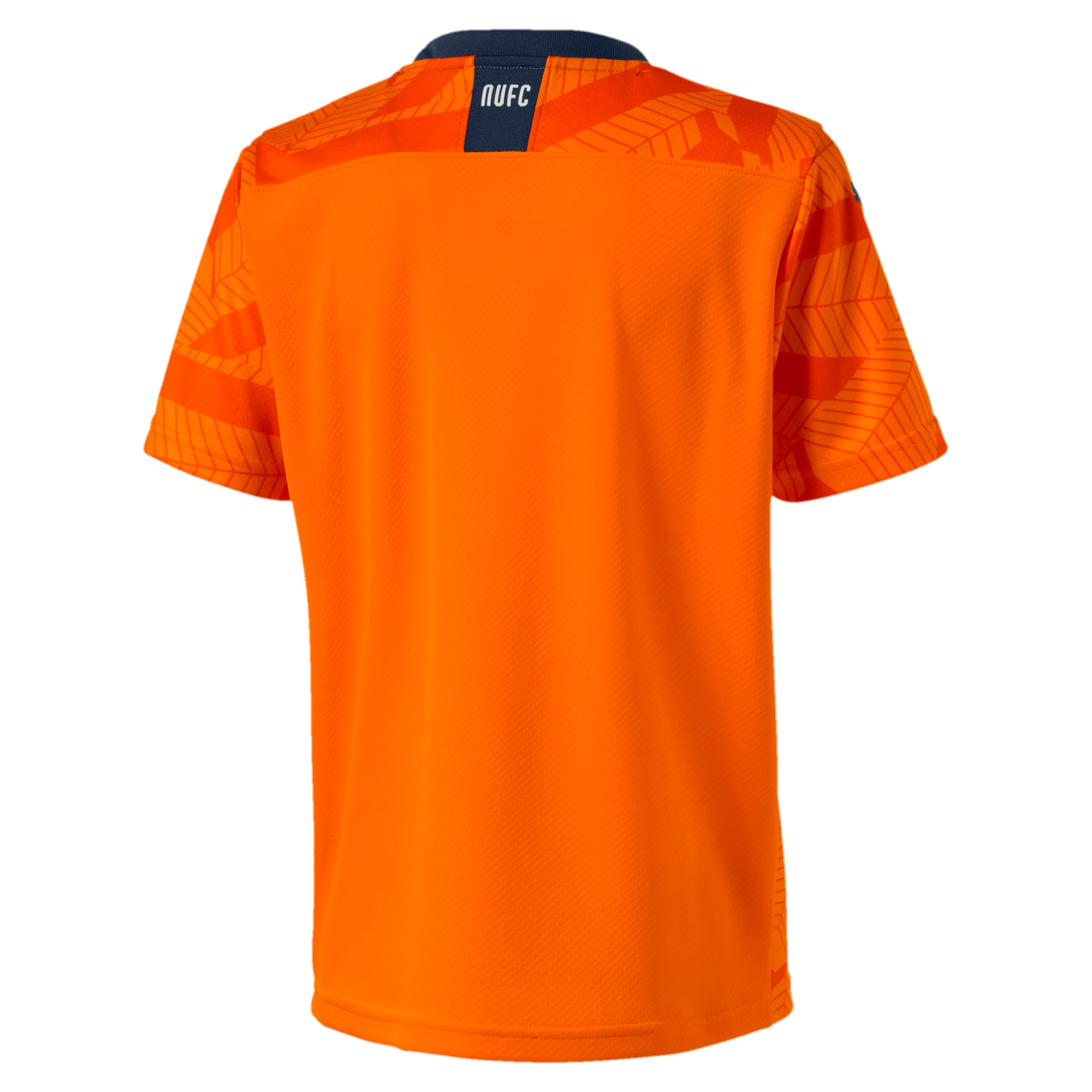 Thumbnail 2 of Newcastle United FC Boys' Third Replica Short Sleeve Jersey, Vibrant Orange-Peacoat, medium