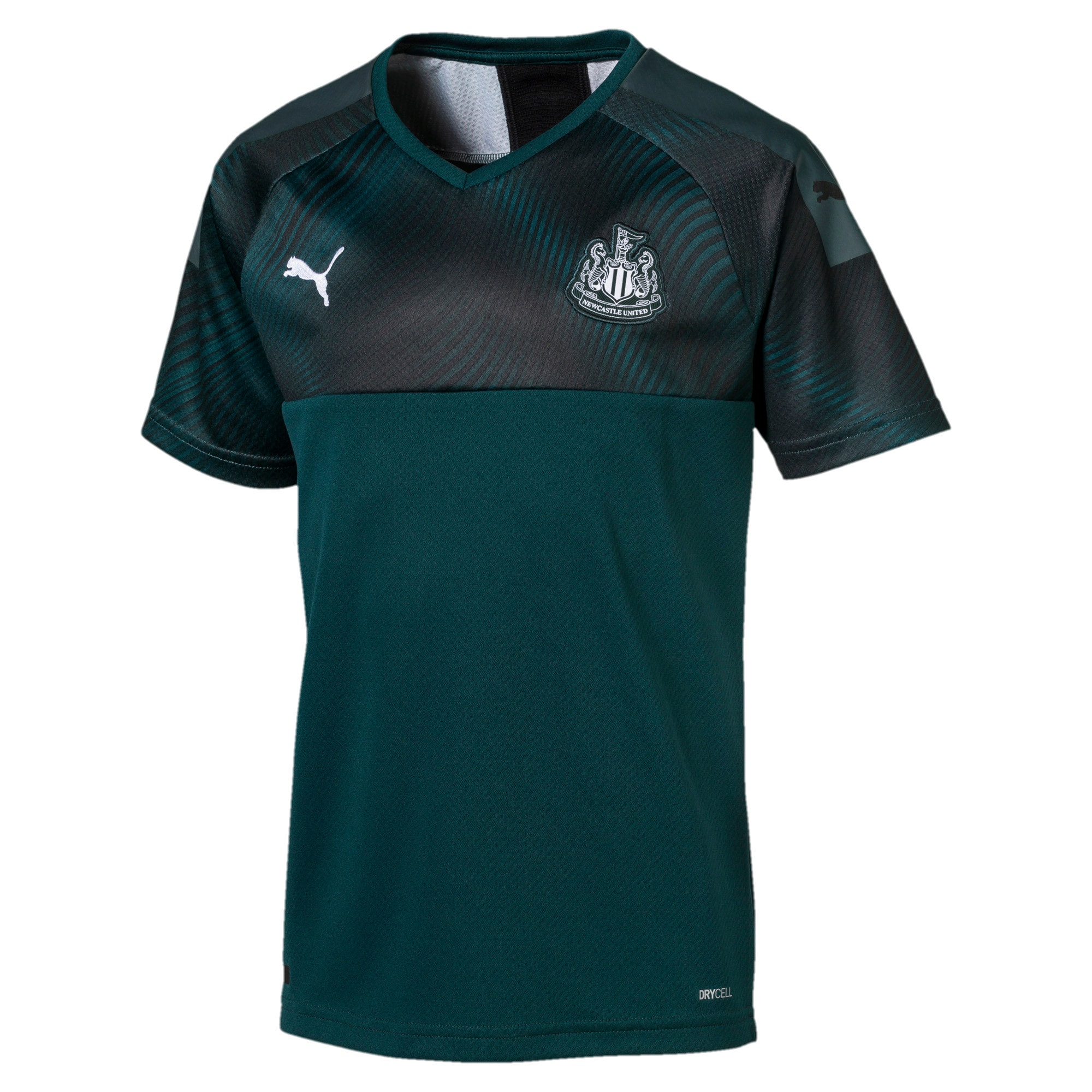 Thumbnail 1 of Newcastle United Kids' Away Replica Jersey, Ponderosa Pine-Puma Black, medium