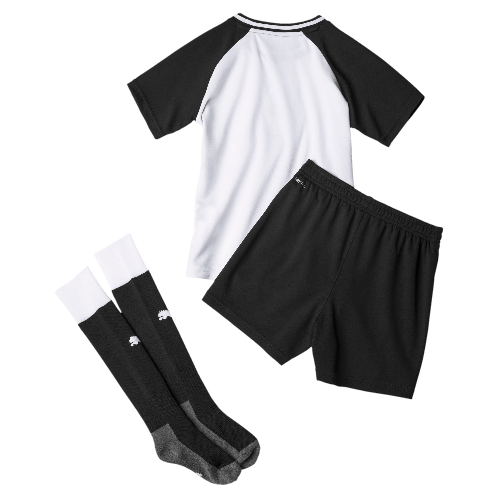 Thumbnail 2 of Newcastle United Kids' Home Mini Kit, Puma White-Puma Black, medium