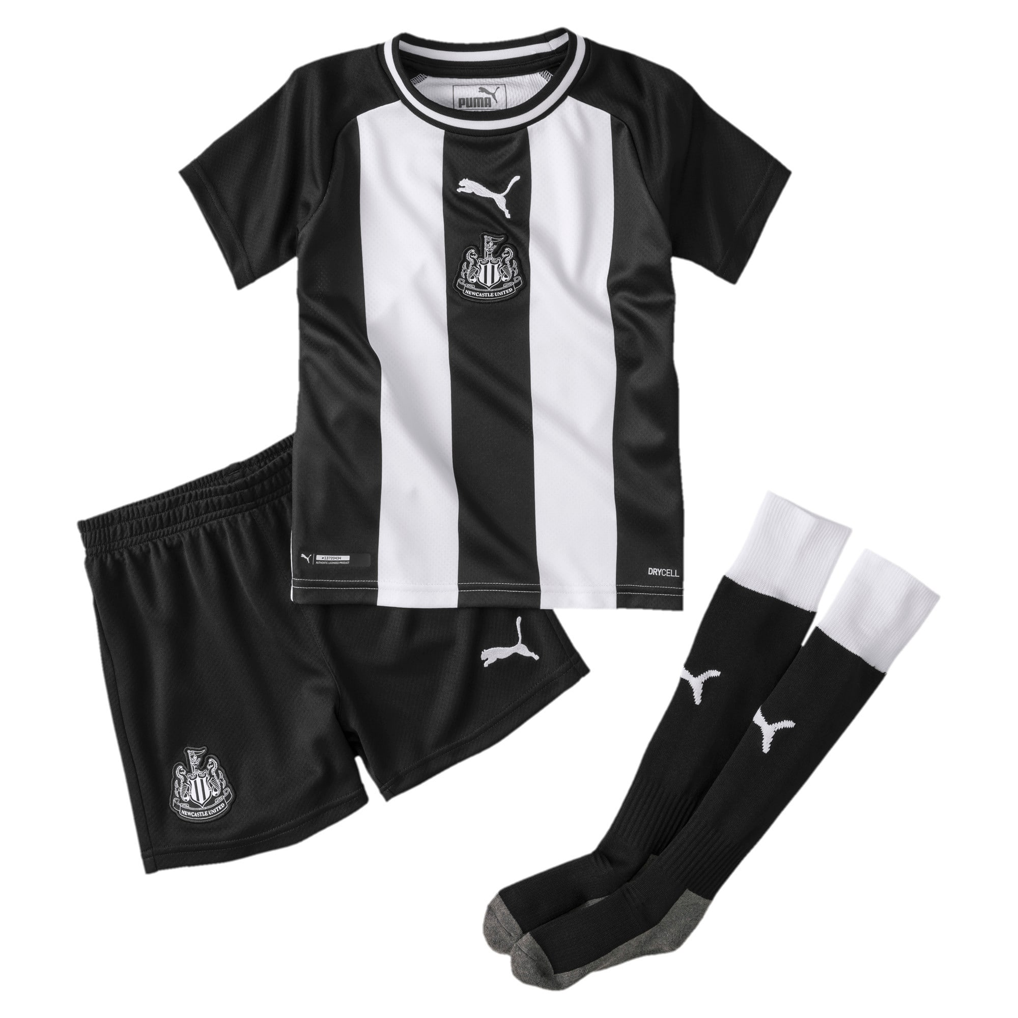 Thumbnail 1 of Newcastle United Kids' Home Mini Kit, Puma White-Puma Black, medium